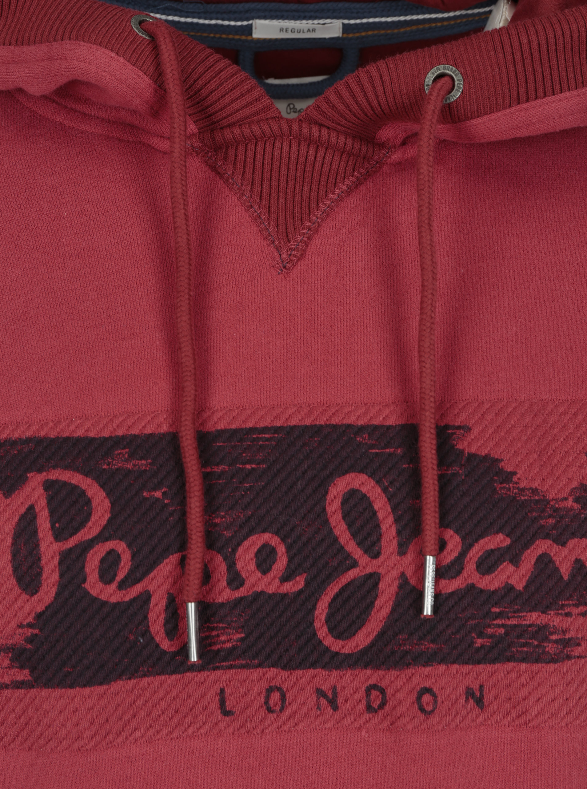 Červená pánská mikina s výšivkou a kapucí Pepe Jeans WOODWARD ... 75e772513f6