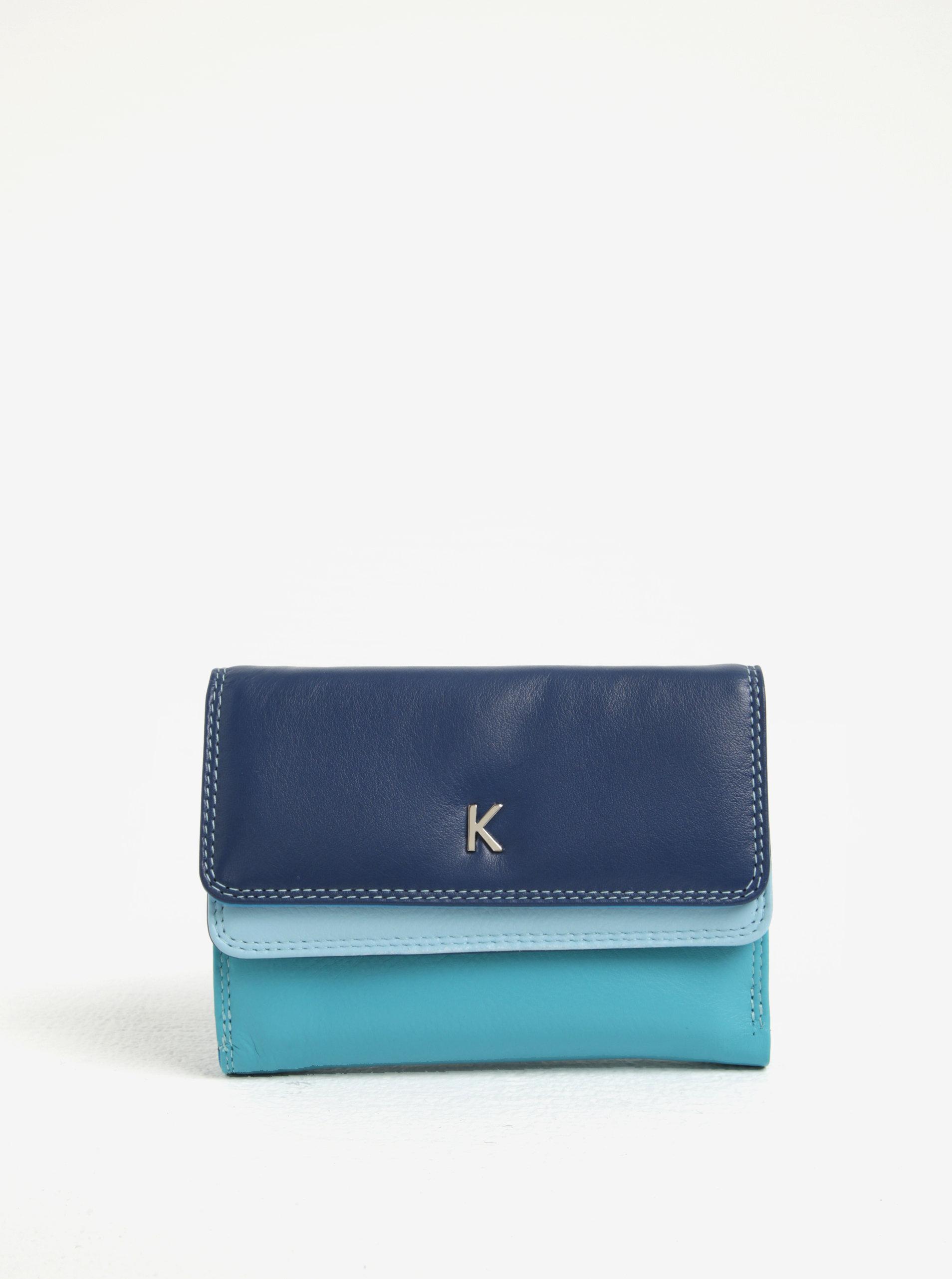 3e26587d8e04 Modrá dámska kožená peňaženka KARA ...