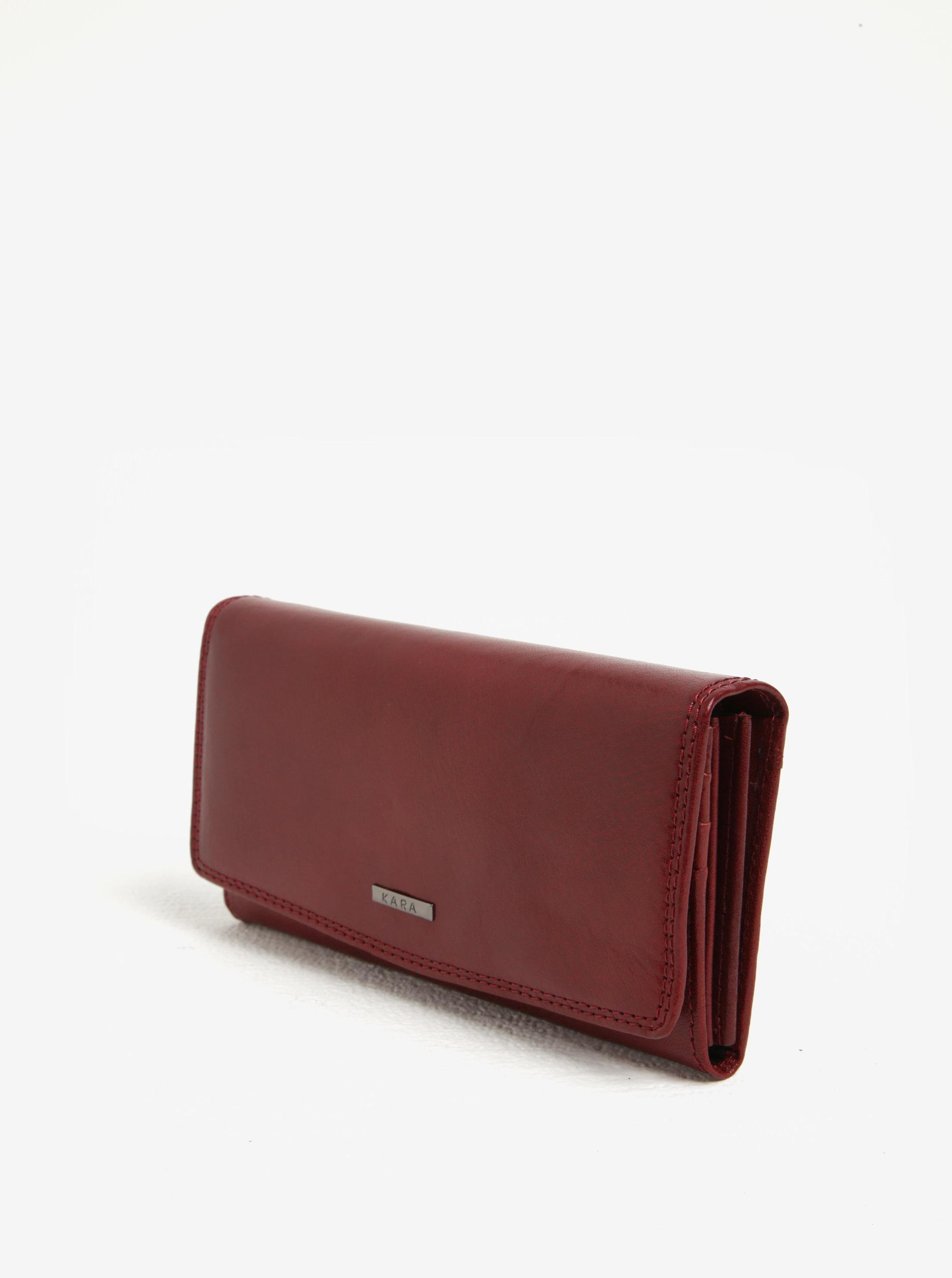474b76a35735 Červená dámska kožená peňaženka KARA ...