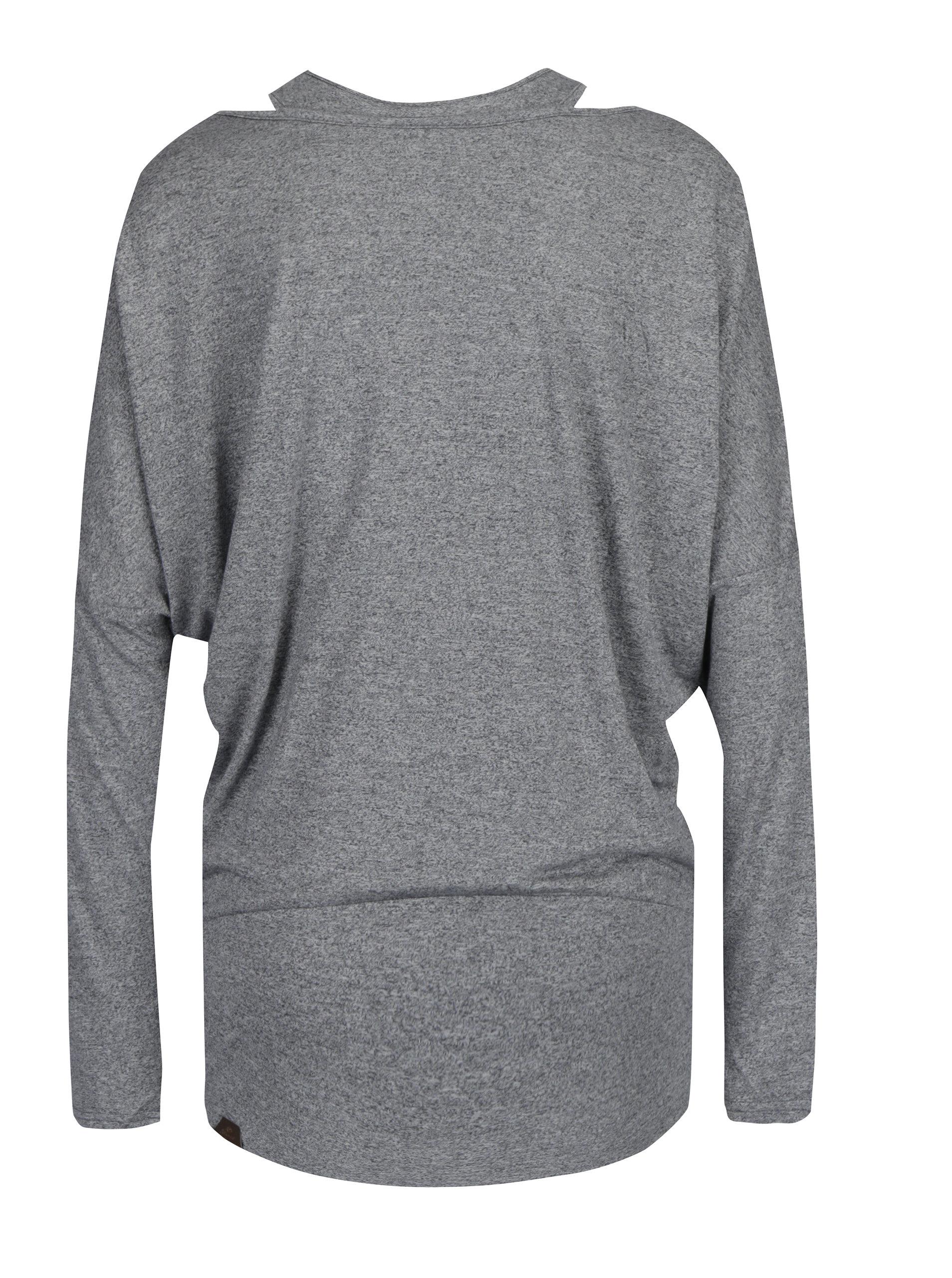 Šedé dámské volné dlouhé žíhané tričko s všitým tílkem Ragwear Sheila ... 7060db9a8d