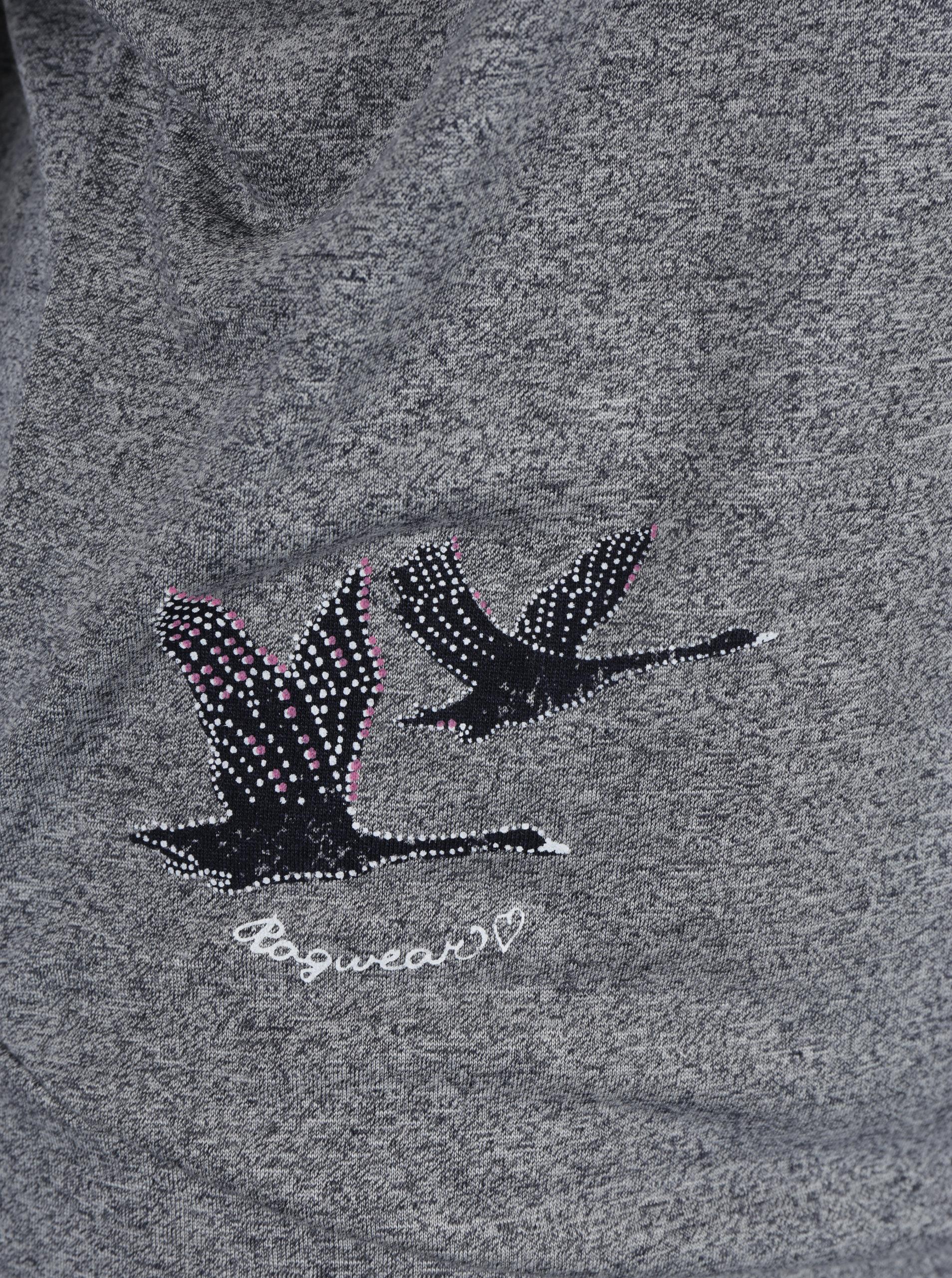 9ac8353de234 Sivé dámske voľné dlhé melírované tričko so všitým tielkom Ragwear Sheila  ...