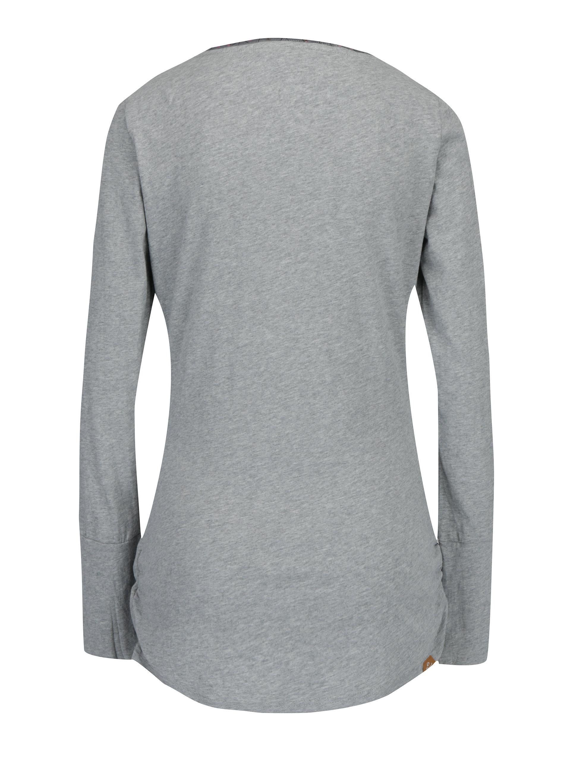 749e87862ee7 Sivé dámske melírované dlhé tričko so všitým dielom Ragwear Zimt ...