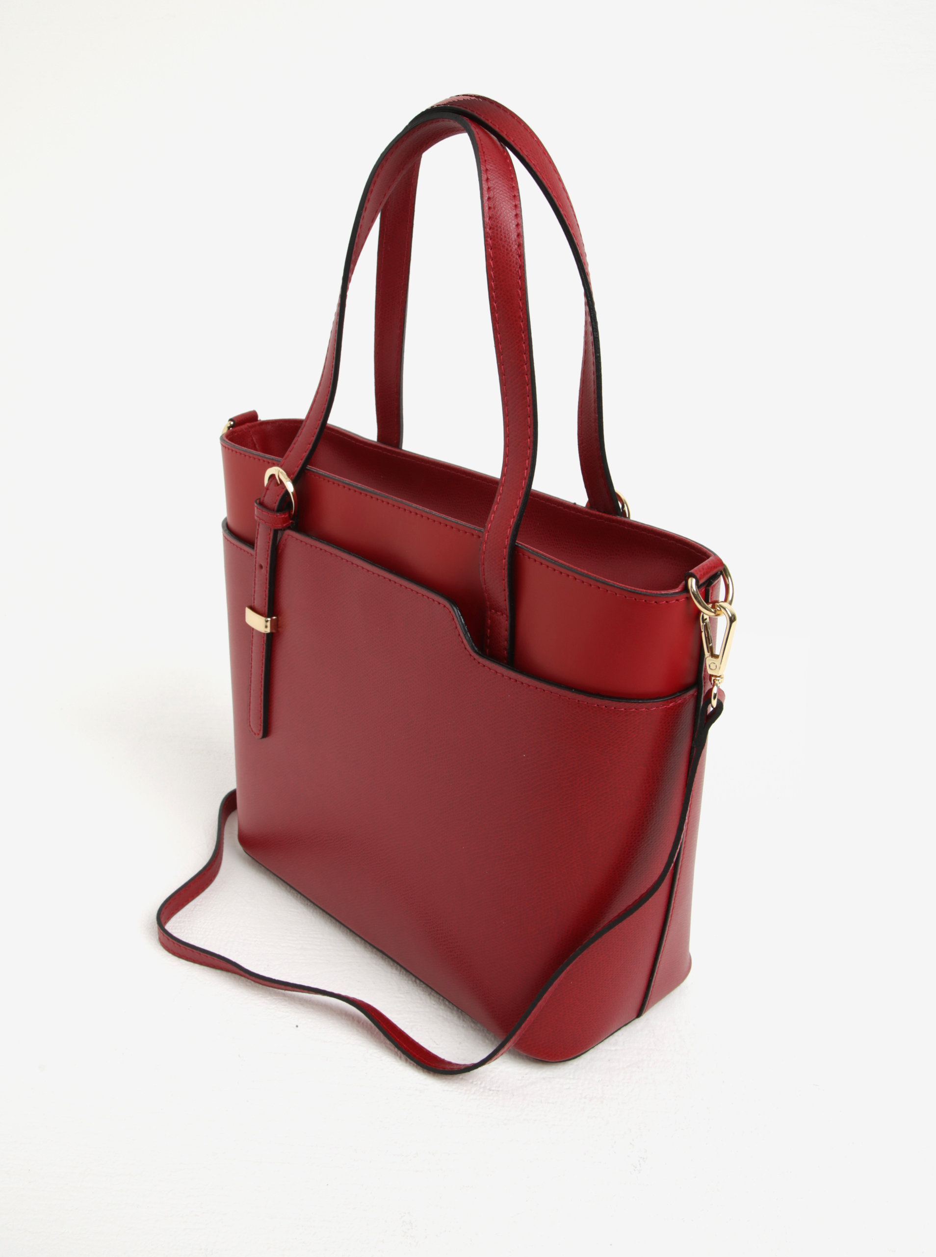 Červená dámská kožená kabelka do ruky crossbody kabelka s hadím vzorem KARA  ... aa79274be3c