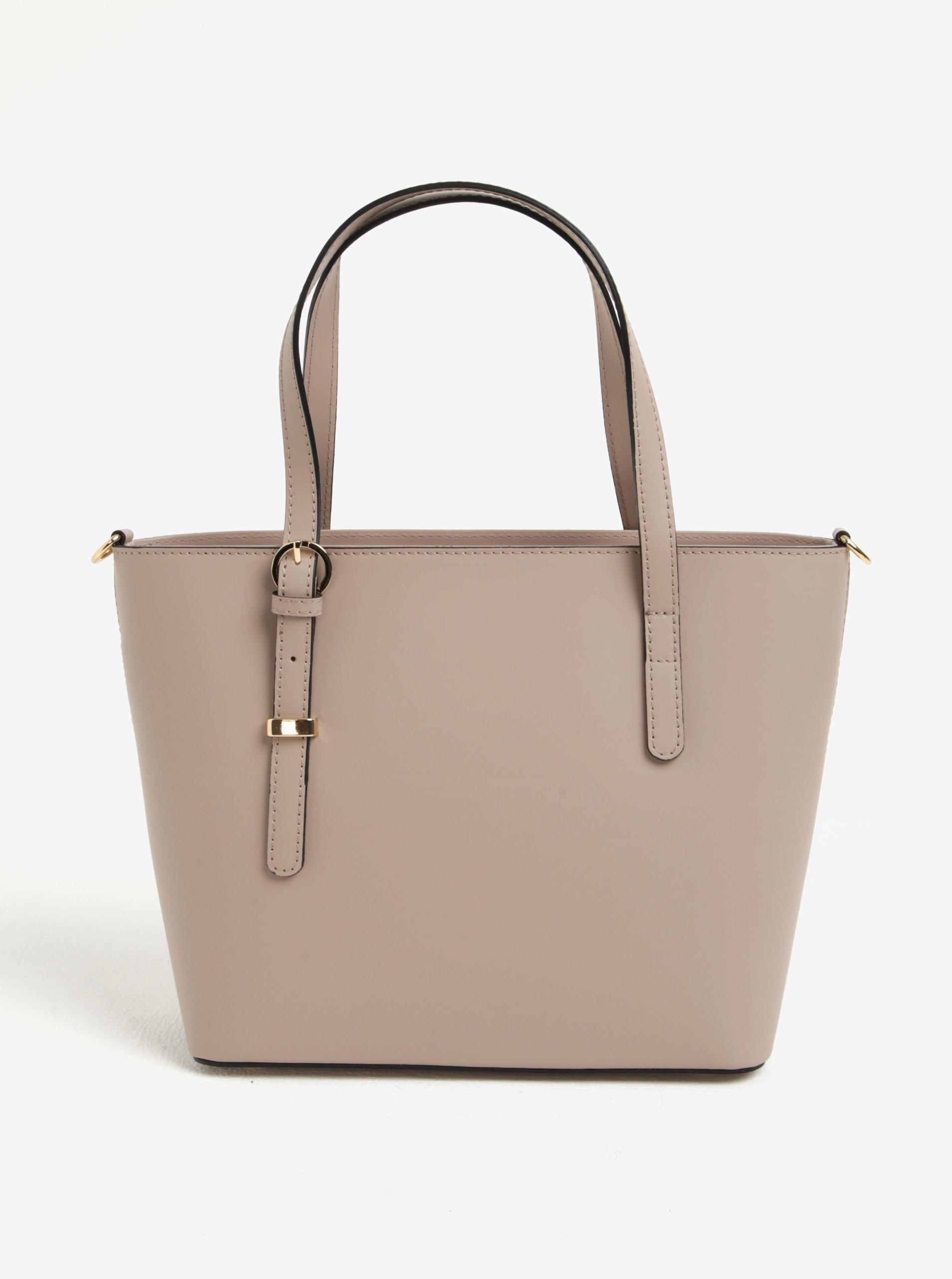 Světle růžová dámská kožená kabelka do ruky crossbody kabelka KARA ... f5eebaca59d