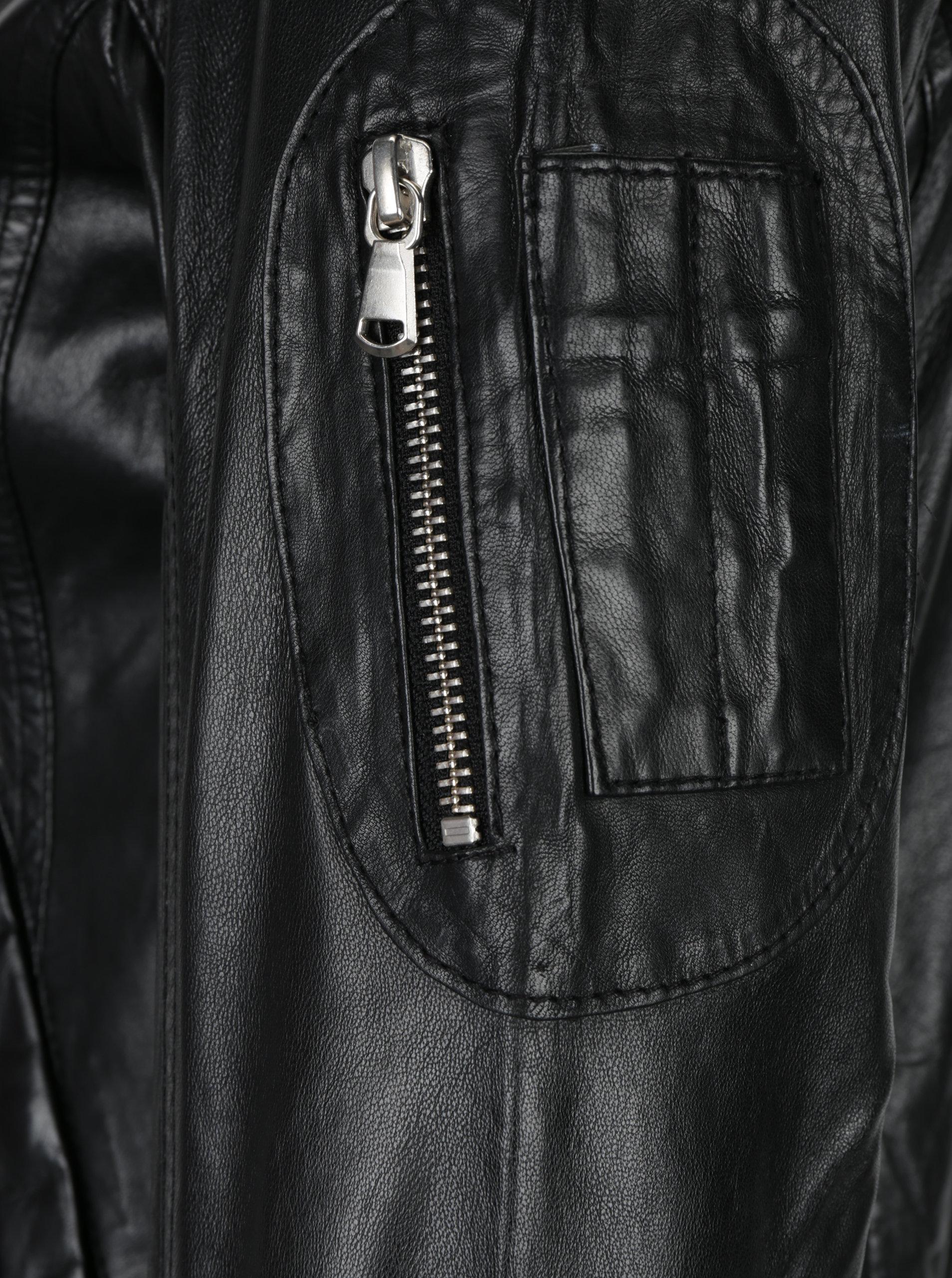 Čierna dámska kožená bunda KARA Rodmi ... 32852748659