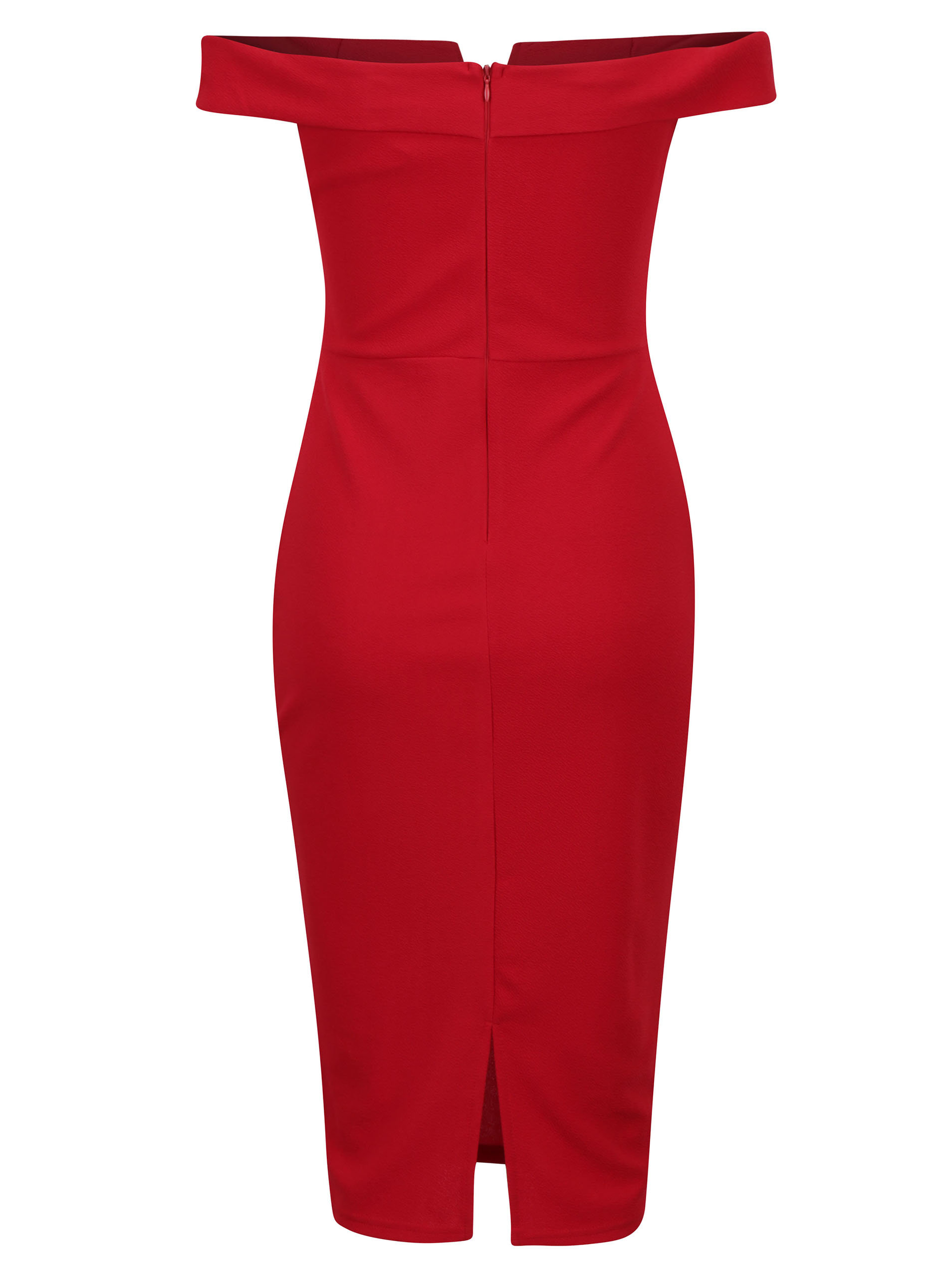 3ae879530185 Červené puzdrové šaty s odhalenými ramenami AX Paris ...