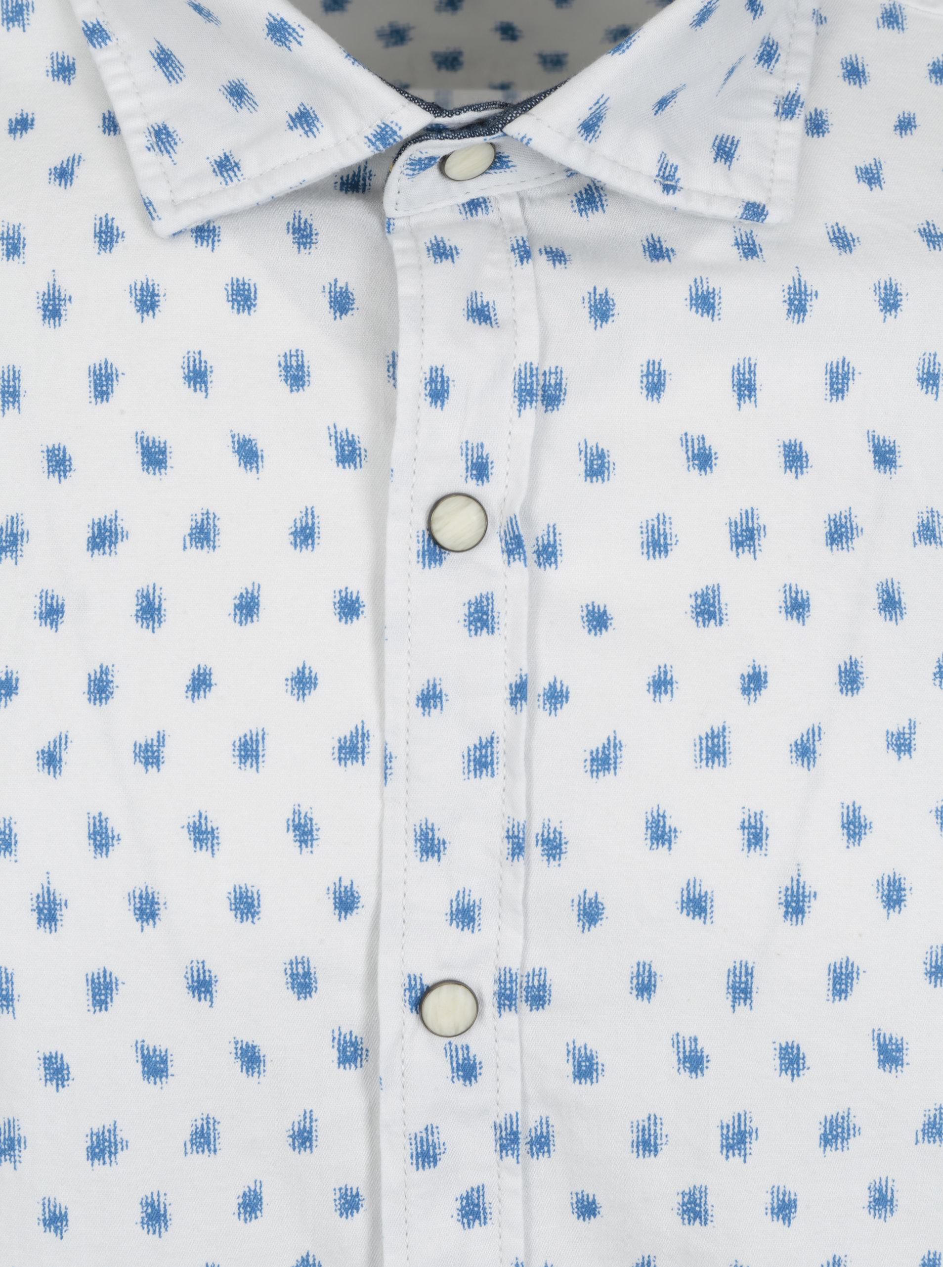8466944ba Biela pánska vzorovaná slim košeľa s dlhým rukávom s.Oliver | ZOOT.sk