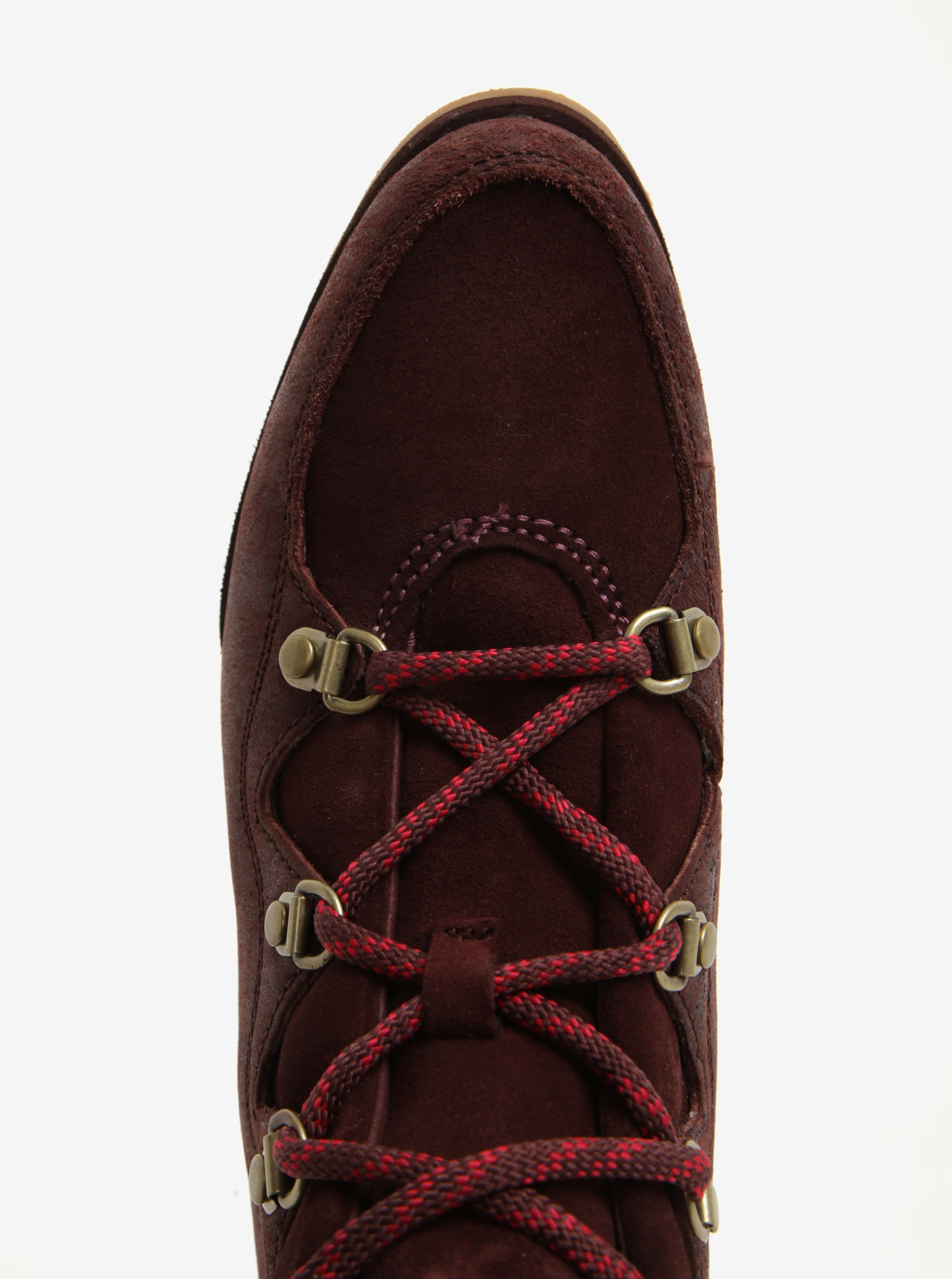 46b5c60c9b811 Vínové dámske členkové kožené vodovzdorné zimné topánky SOREL | ZOOT.sk
