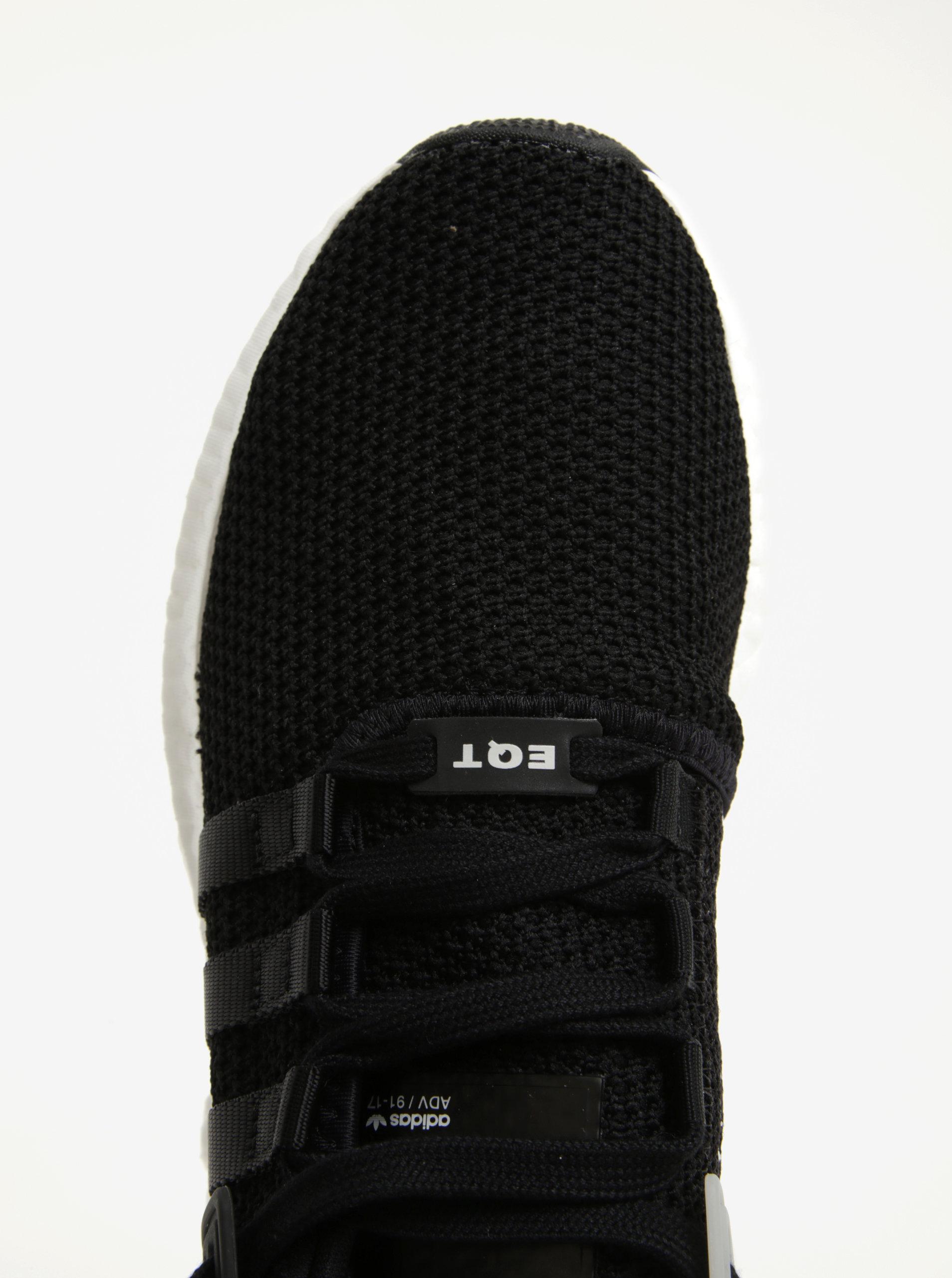 023a6fcf995d Čierne pánske tenisky s bielou podrážkou adidas Originals Eqt Support ...