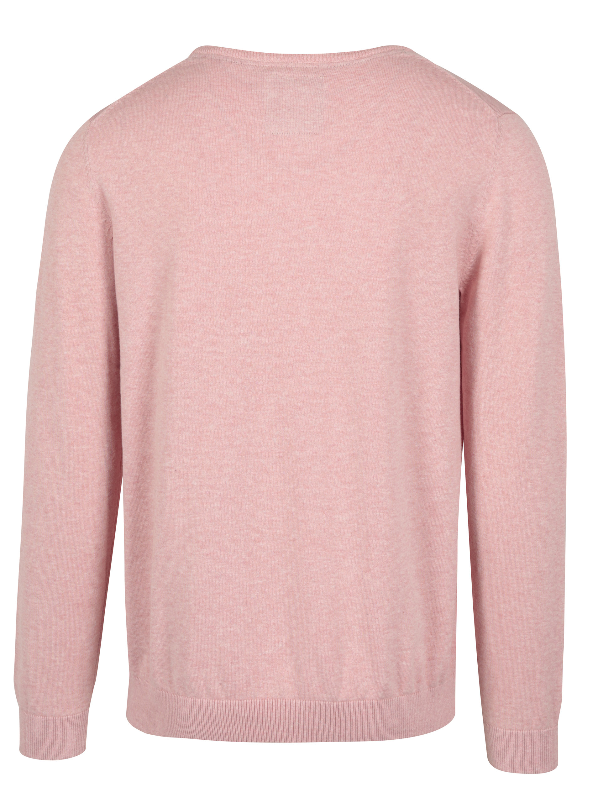 Světle růžový pánský svetr s kulatým výstřihem s.Oliver  654aad32e3