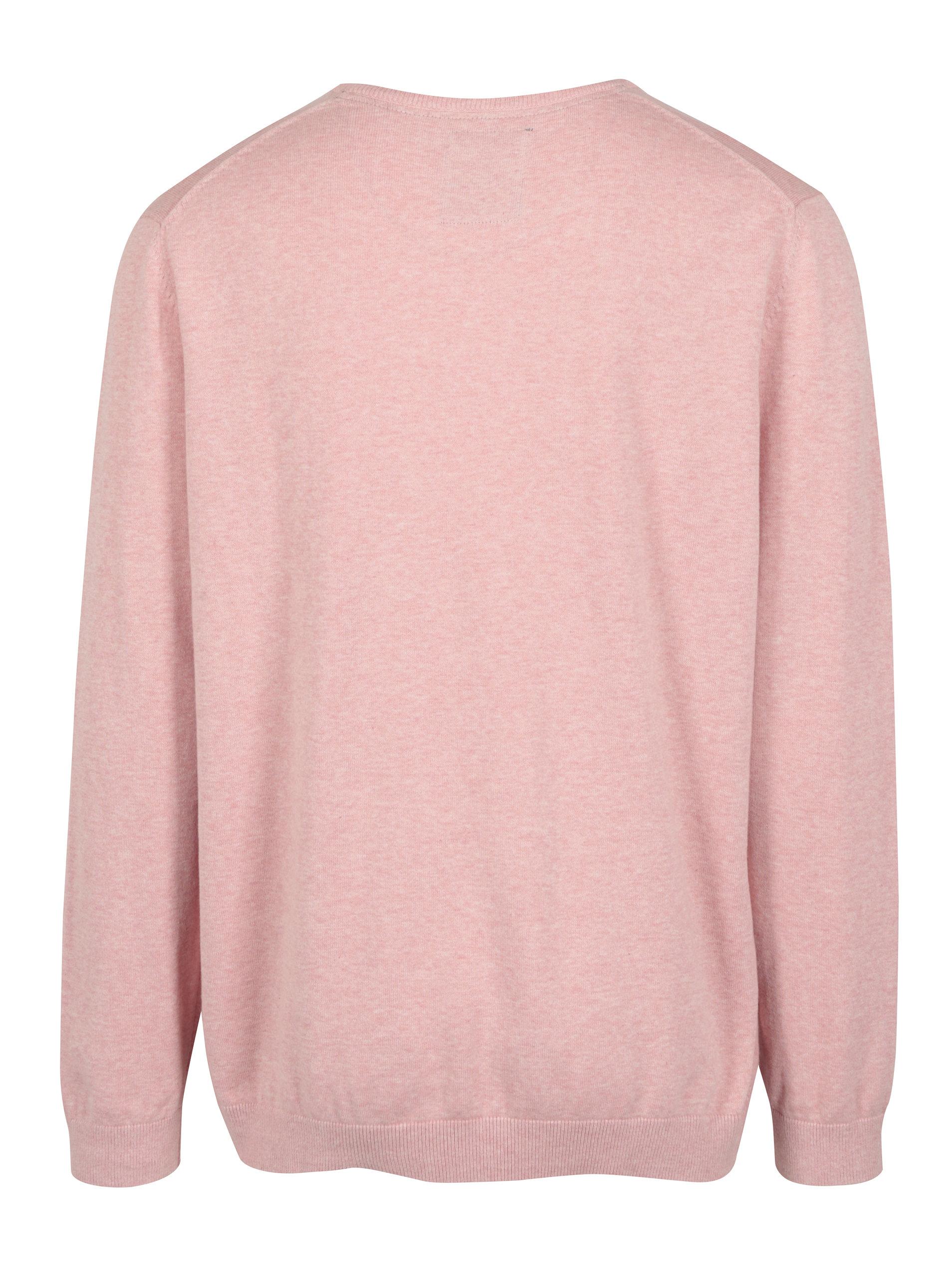 Světle růžový pánský svetr s véčkovým výstřihem s.Oliver  69906d033f