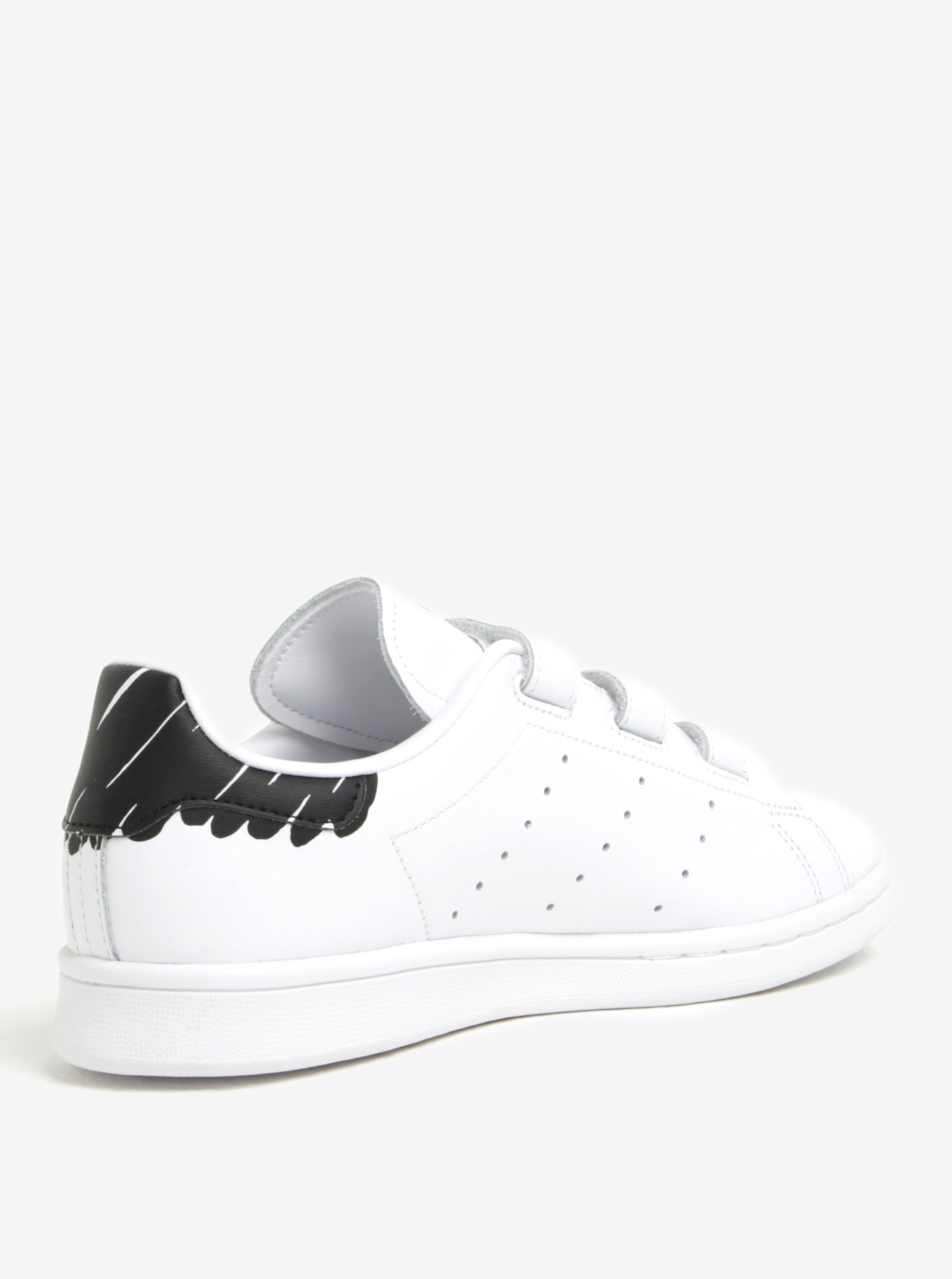 Bílé dámské tenisky na suchý zip adidas Originals Stan Smith ... 49c254b493