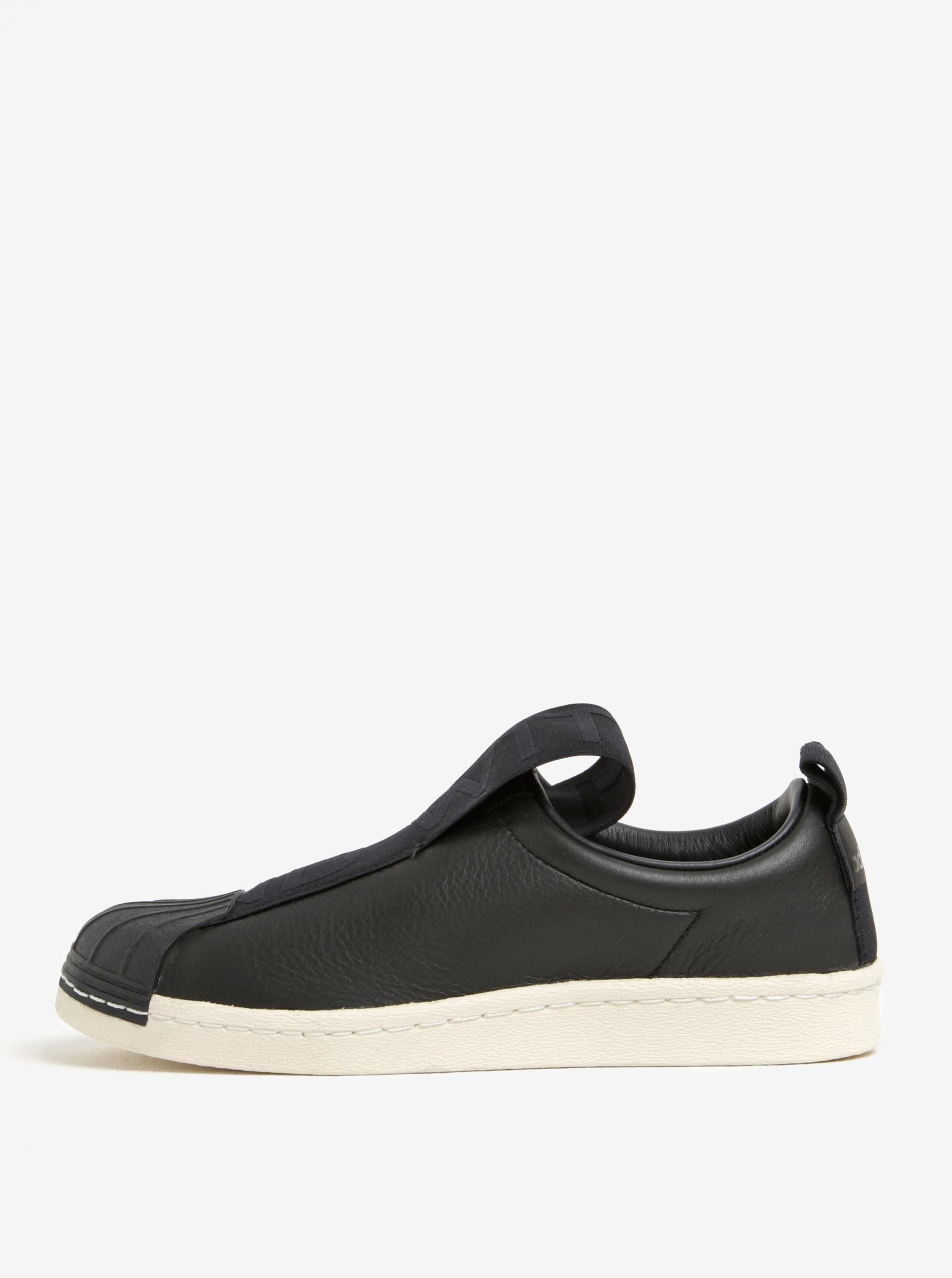 Čierne dámske kožené slip on adidas Originals Superstar ... 84060b26cac