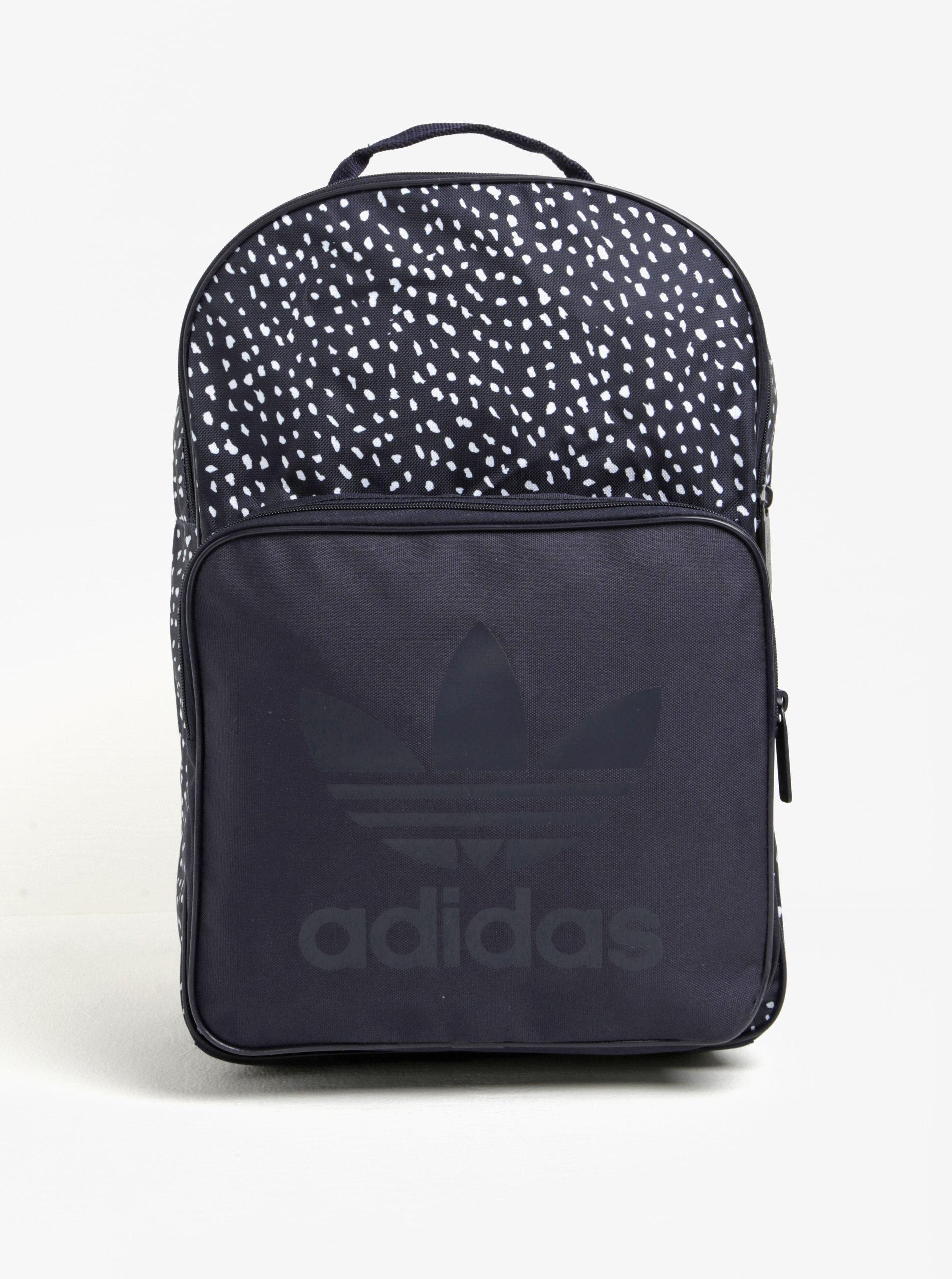 Tmavě modrý vzorovaný batoh adidas Originals Classic ... 46c1674cfe