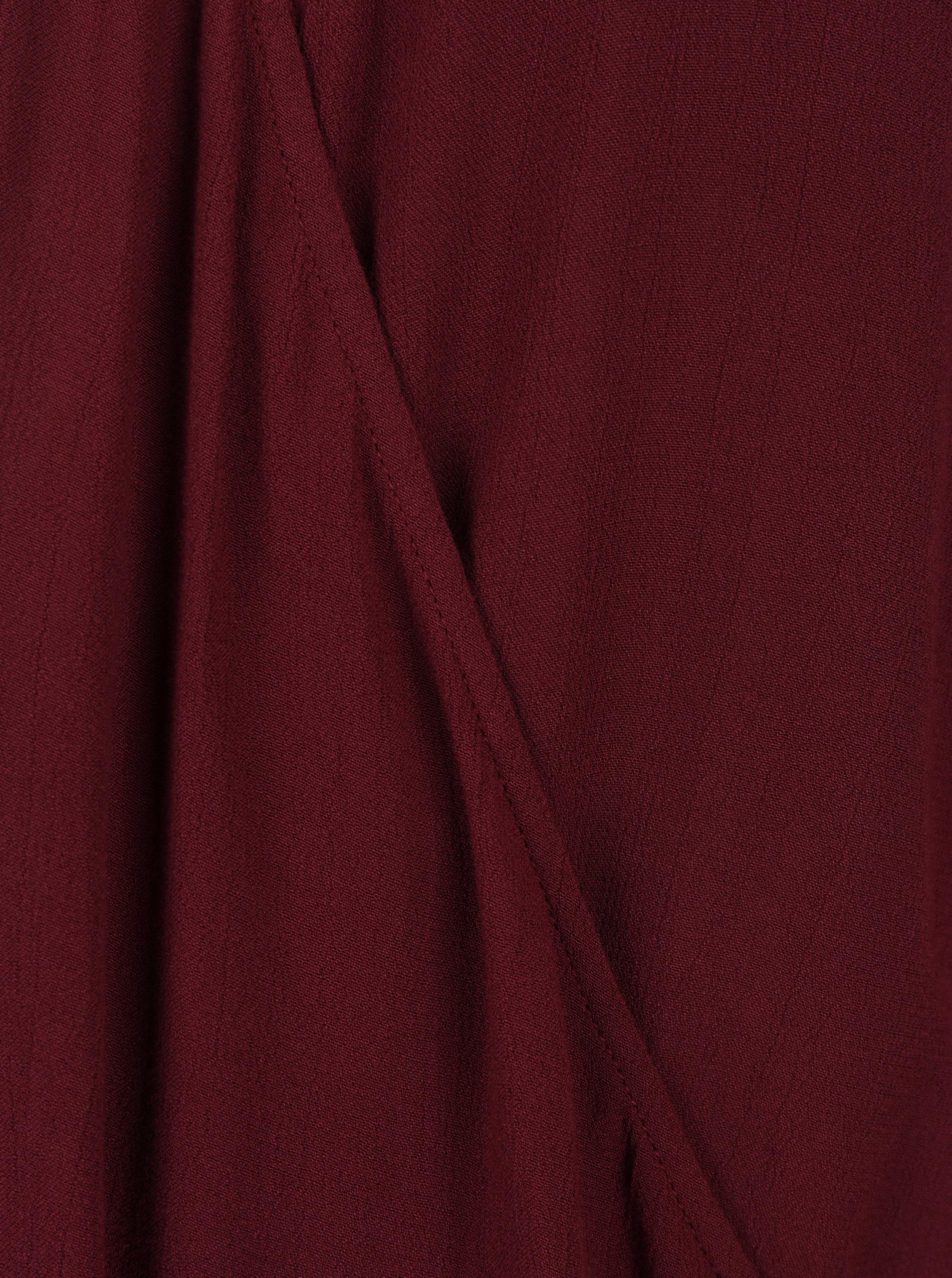 875f1a6788 Vínová blúzka s prekladaným výstrihom VERO MODA Misty ...