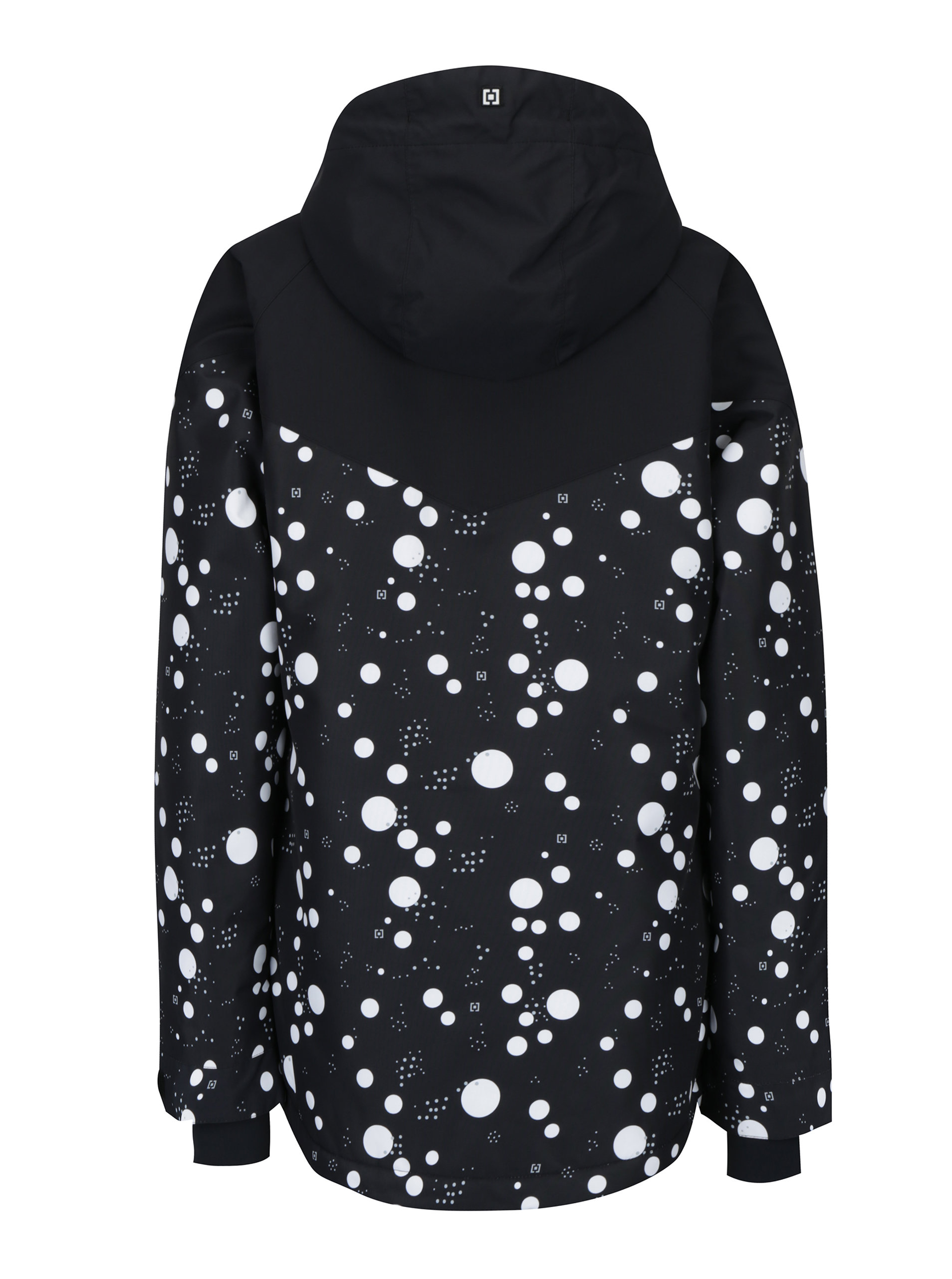 Bielo-čierna dámska bodkovaná zimná bunda Horsefeathers Fay ... 2a85ccca55f