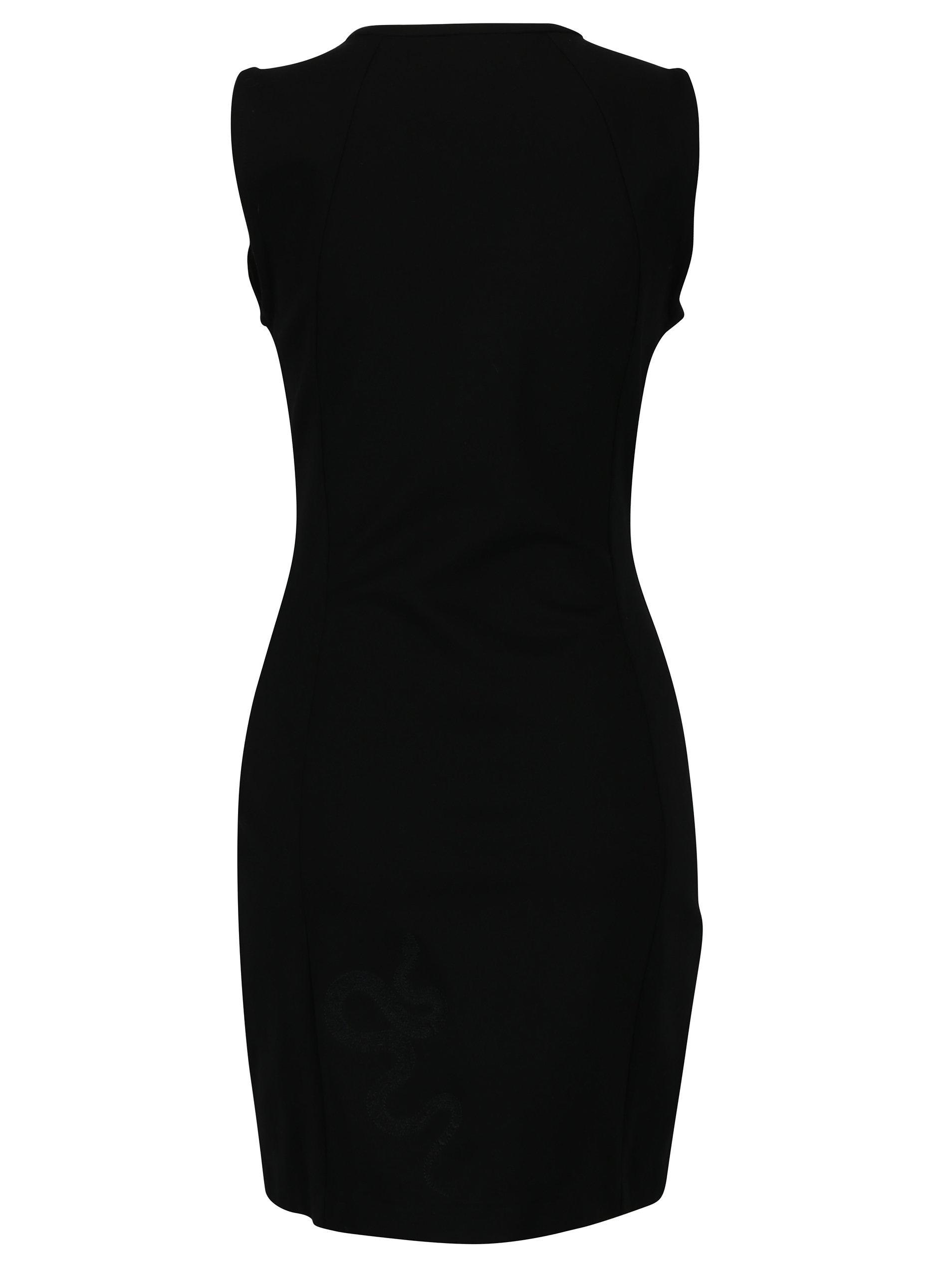 834e15d6ca98 Černé šaty se zvířecím vzorem Desigual Santorini ...
