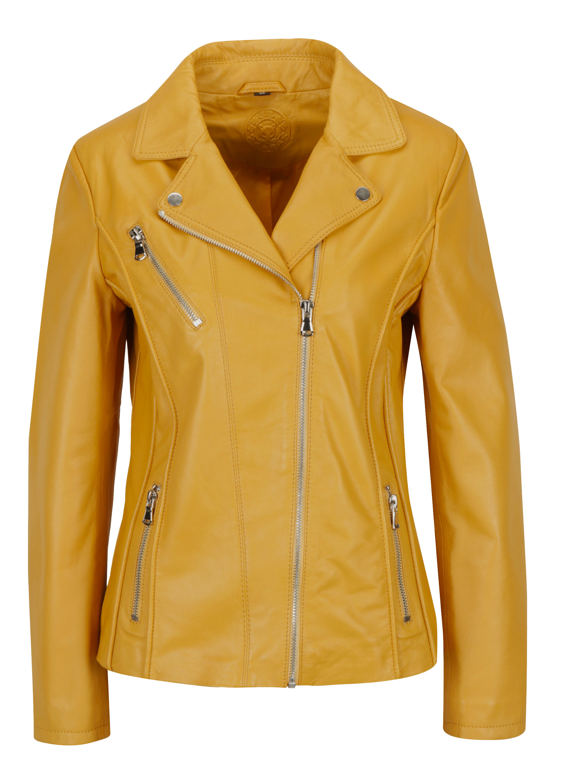 Žlutý dámský kožený křivák KARA Kenya ... 118c7c8035f