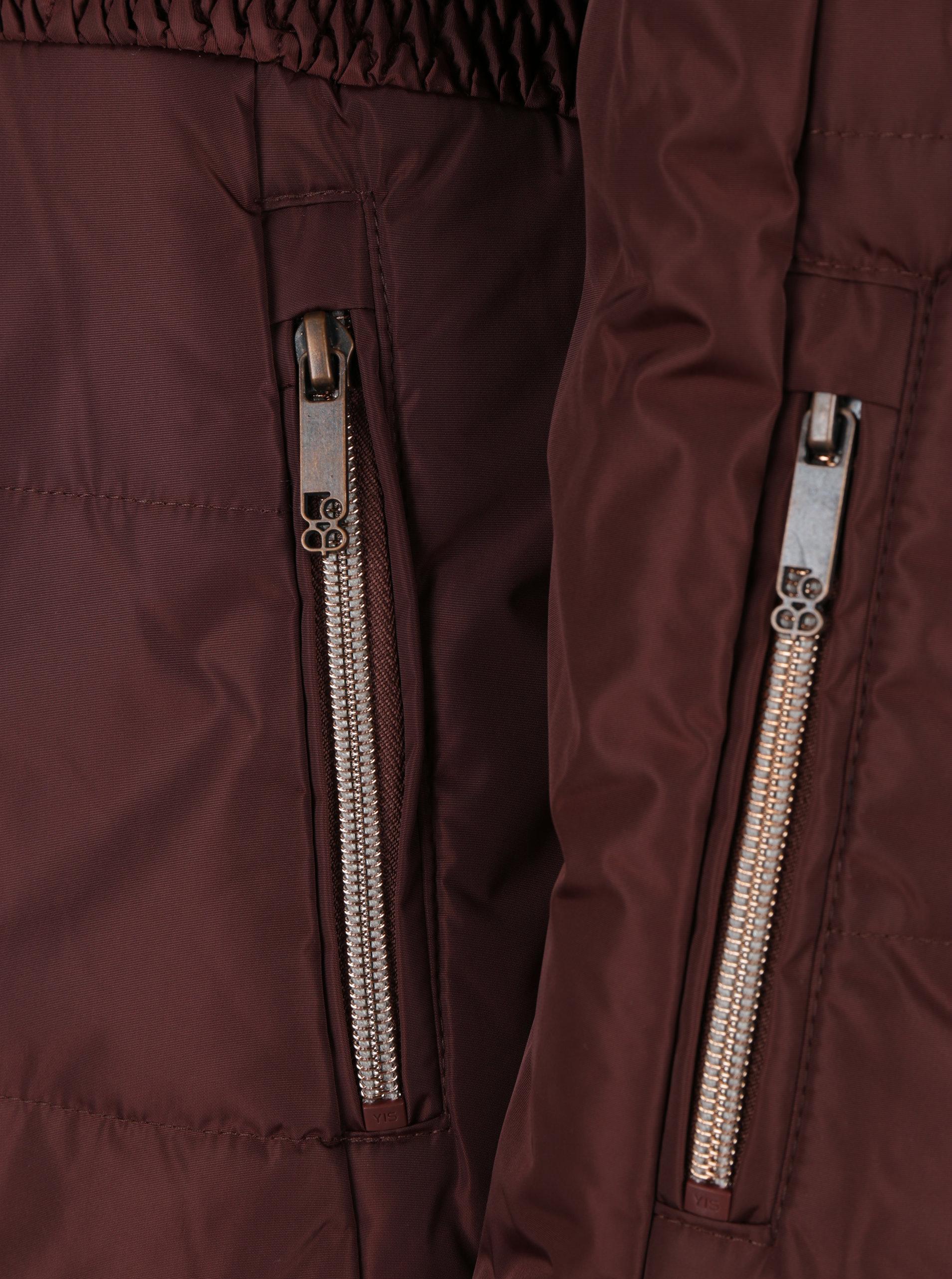 494b649376 Hnedá dámska lyžiarska funkčná vodovzdorná bunda LOAP Fabiana ...