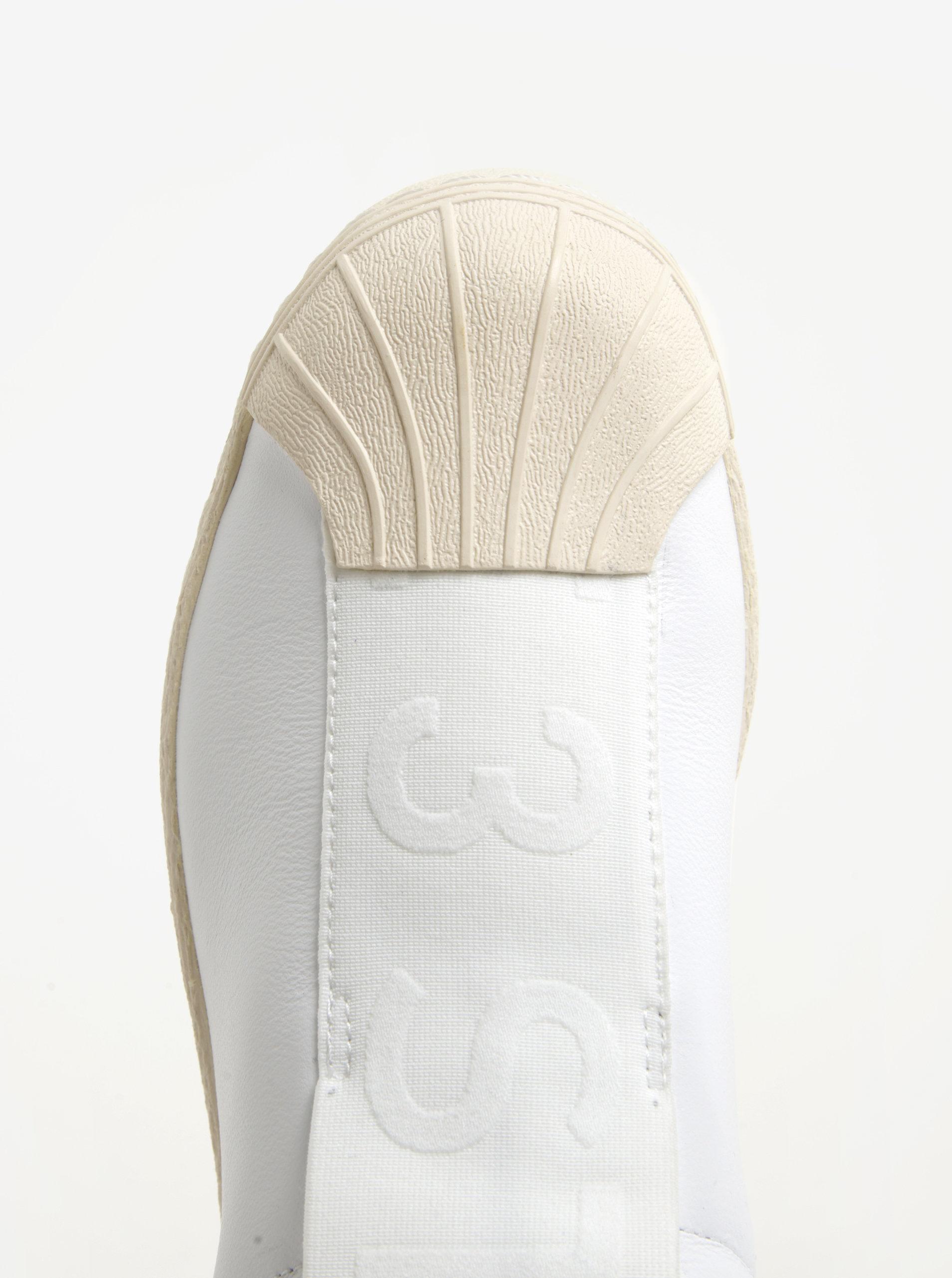 Biele dámske kožené slip on adidas Originals Superstar ... beed37a10d1