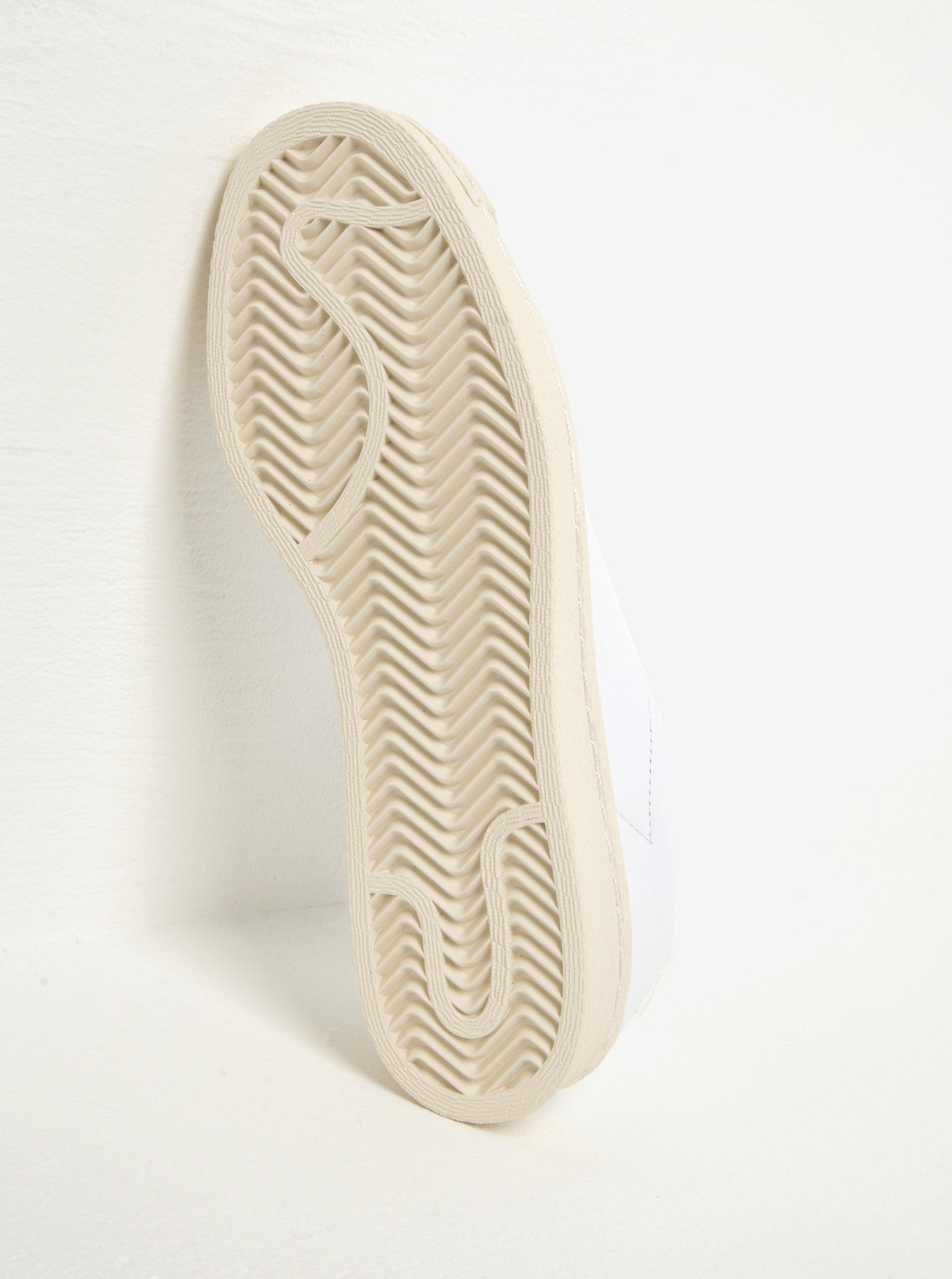 Biele dámske kožené slip on adidas Originals Superstar ... b3066f86449