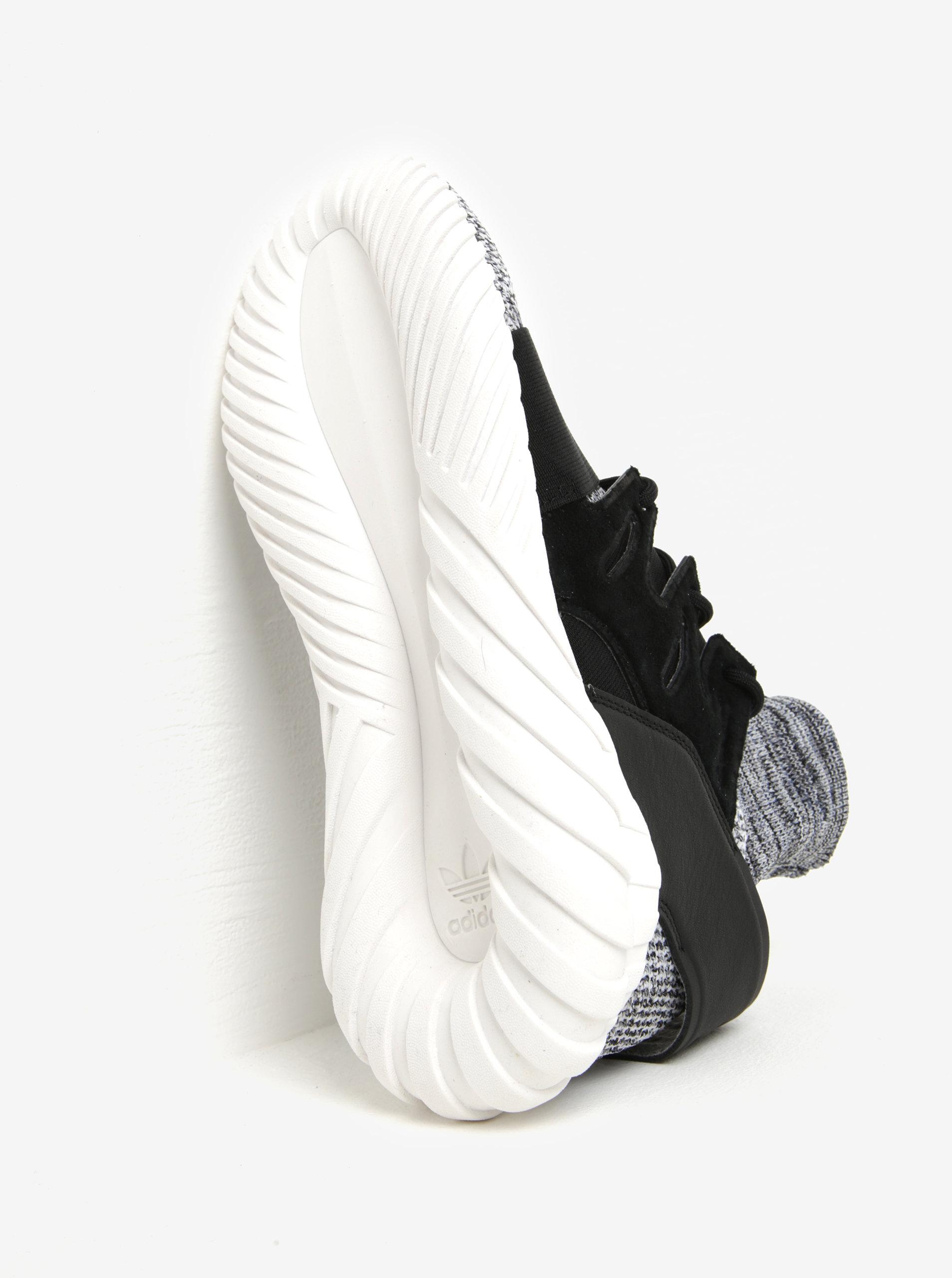 Čierno-biele melírované tenisky adidas Originals Tubular ... 81ea640b1a4