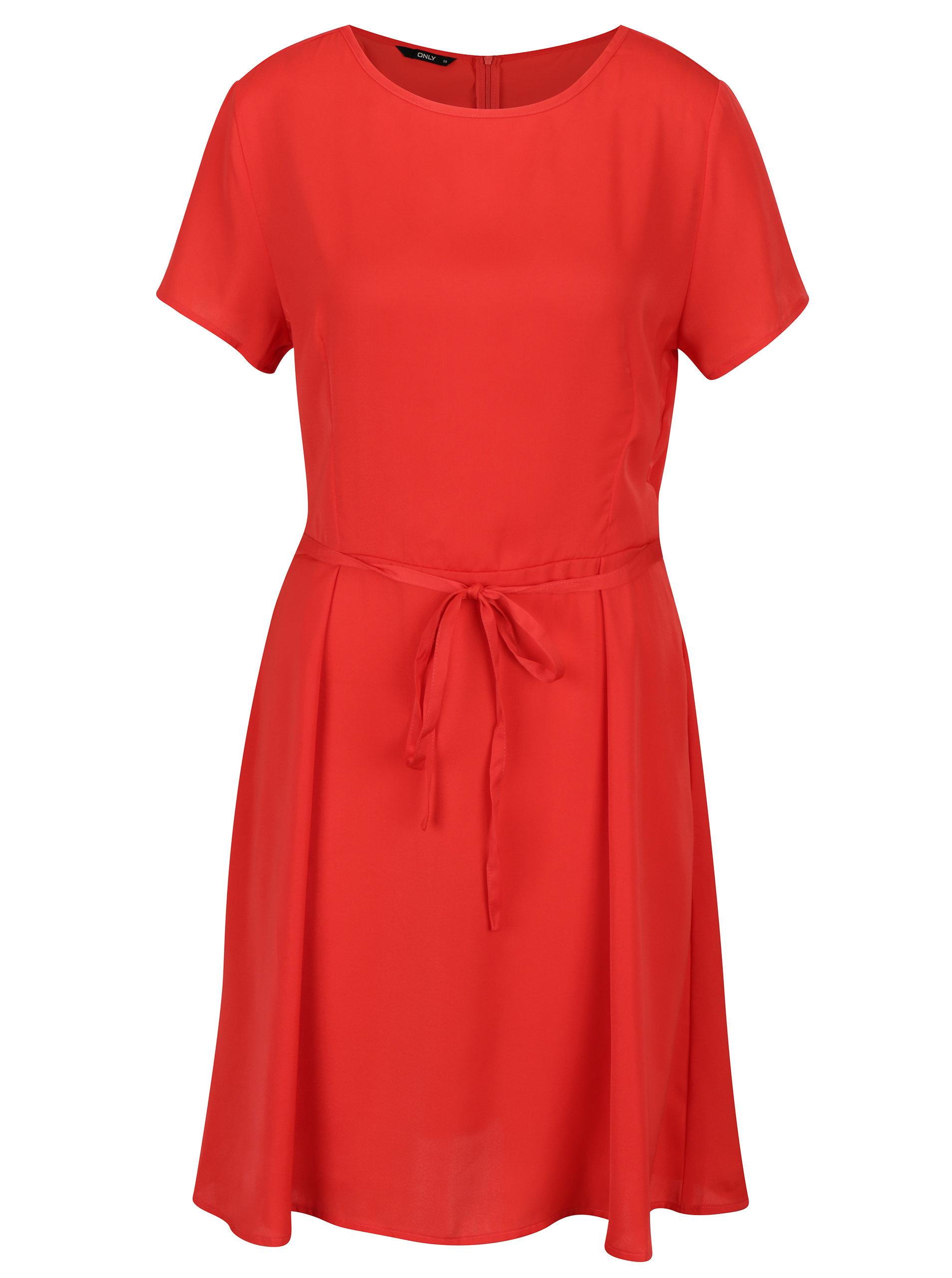 0c367bdf11ee Červené šaty s krátkym rukávom ONLY Riga ...