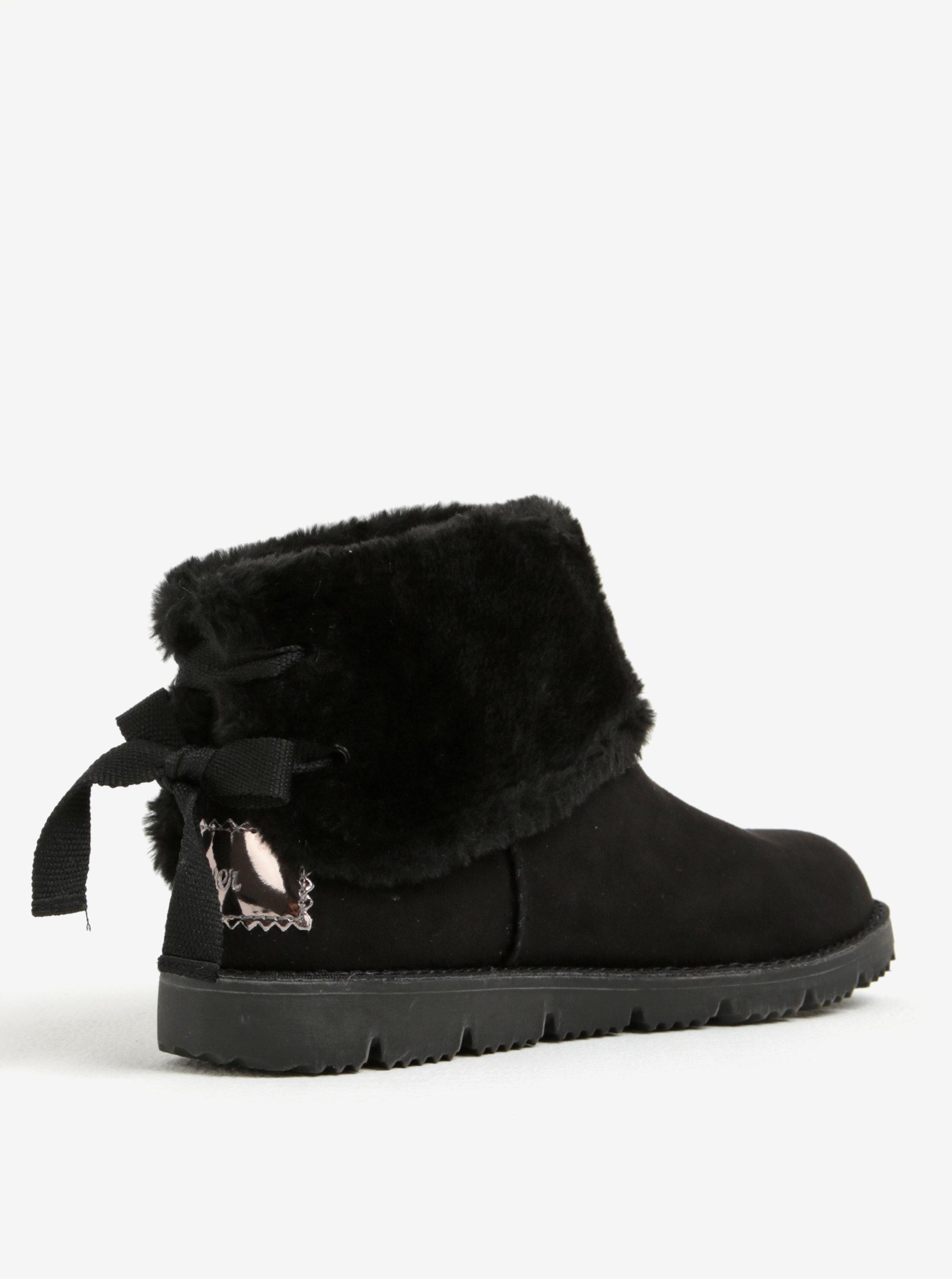 250830f529 Čierne dámske zimné členkové topánky v semišovej úprave s.Oliver ...