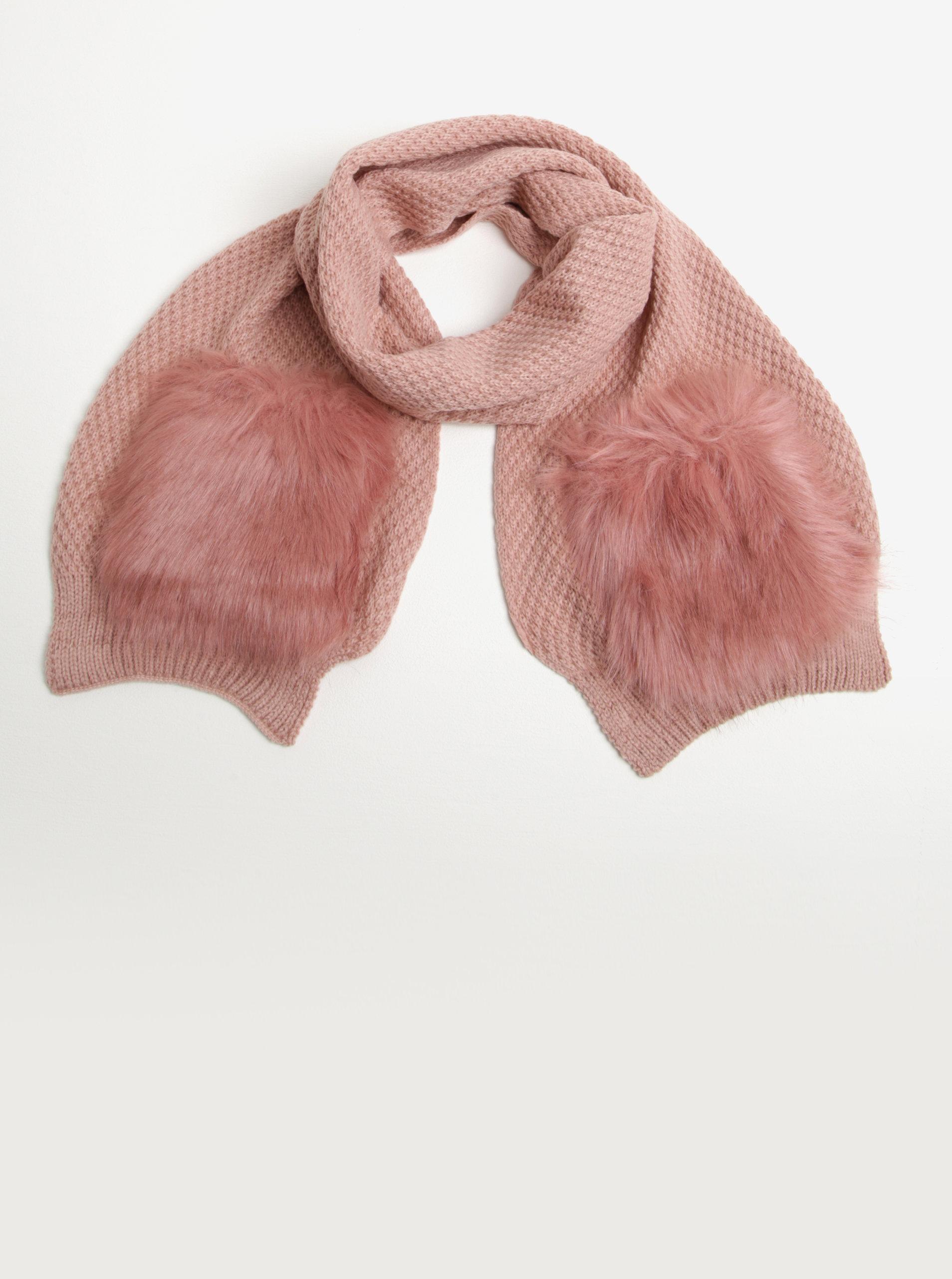 f273e0520 Růžová dámská šála s kapsami Something Special | ZOOT.cz