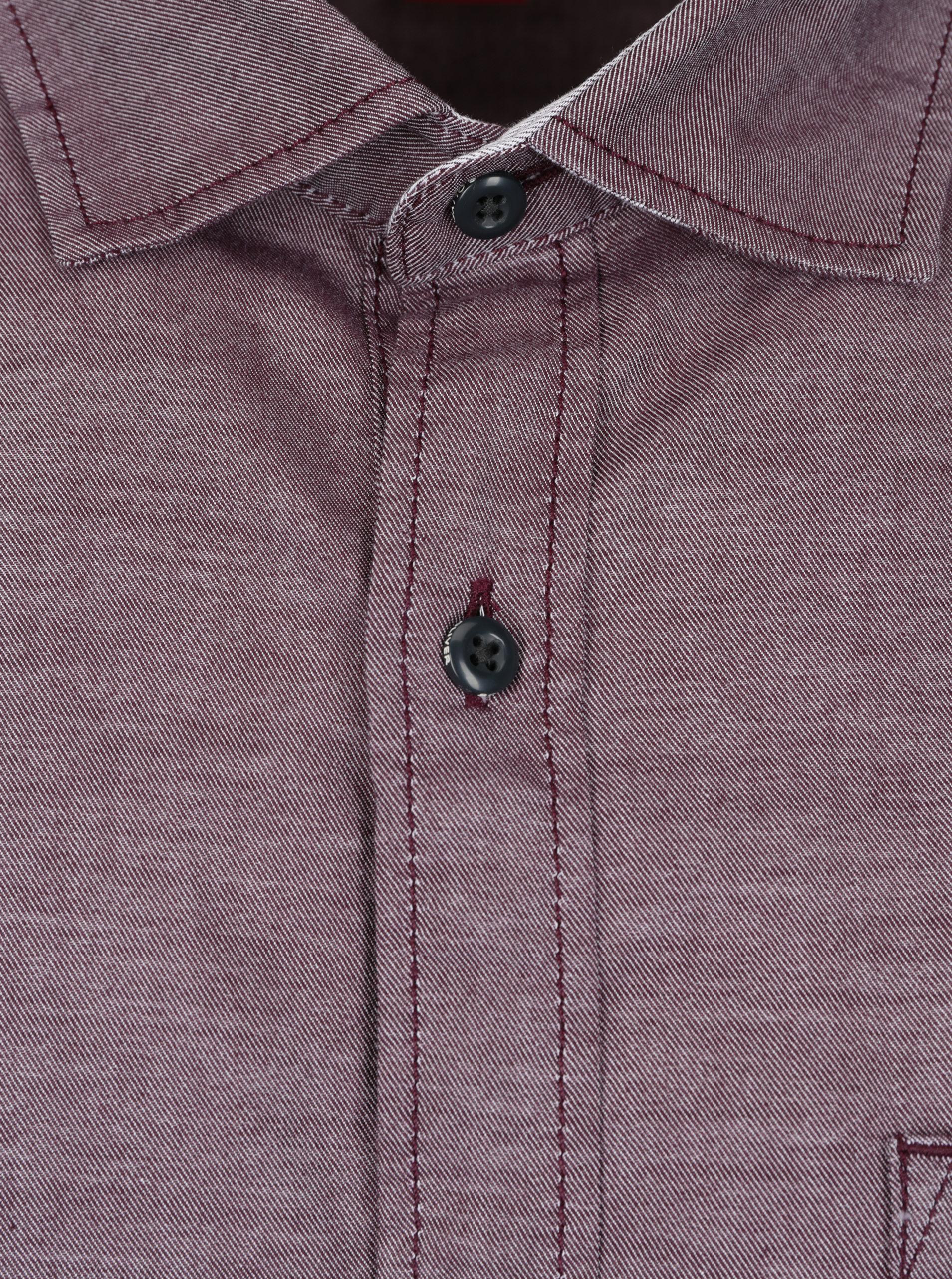 f1ddd0c243c Vínová pánská slim fit košile s jemným vzorem s.Oliver