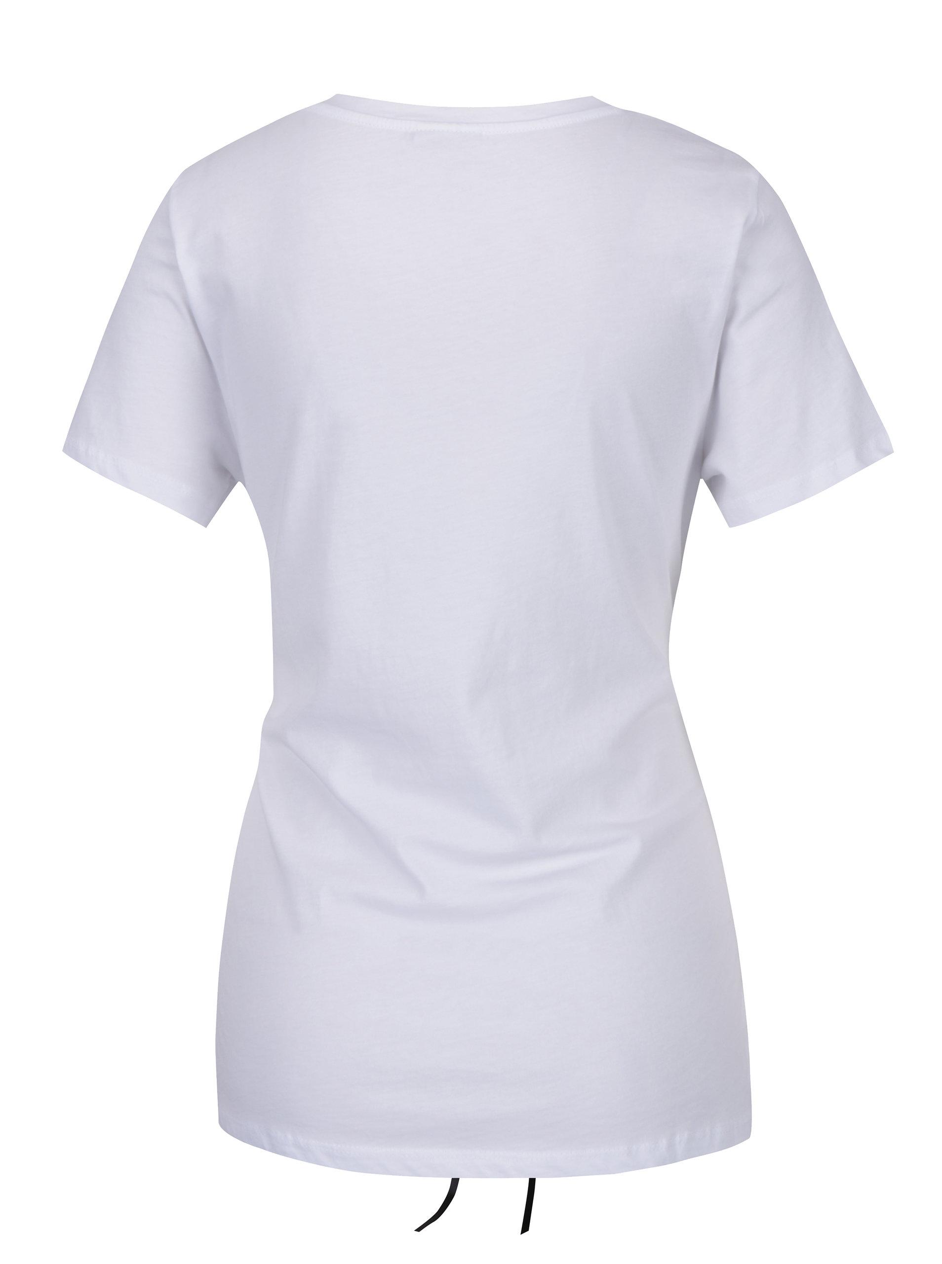 Bílé tričko se šněrováním Noisy May Philippa ... 8d2c5b61c5