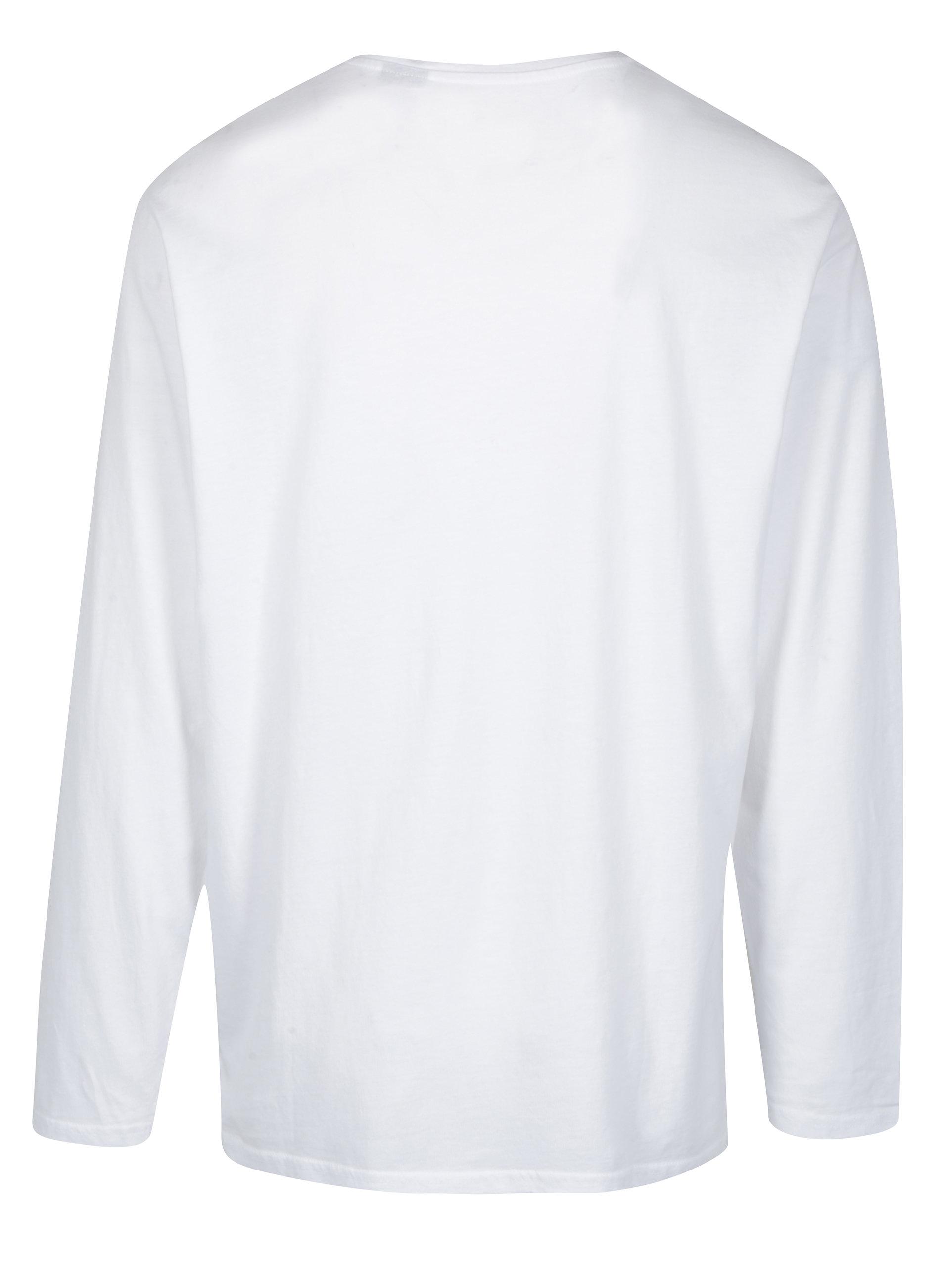 310357345141 Biele tričko s dlhým rukávom a gombíkmi JP 1880 ...