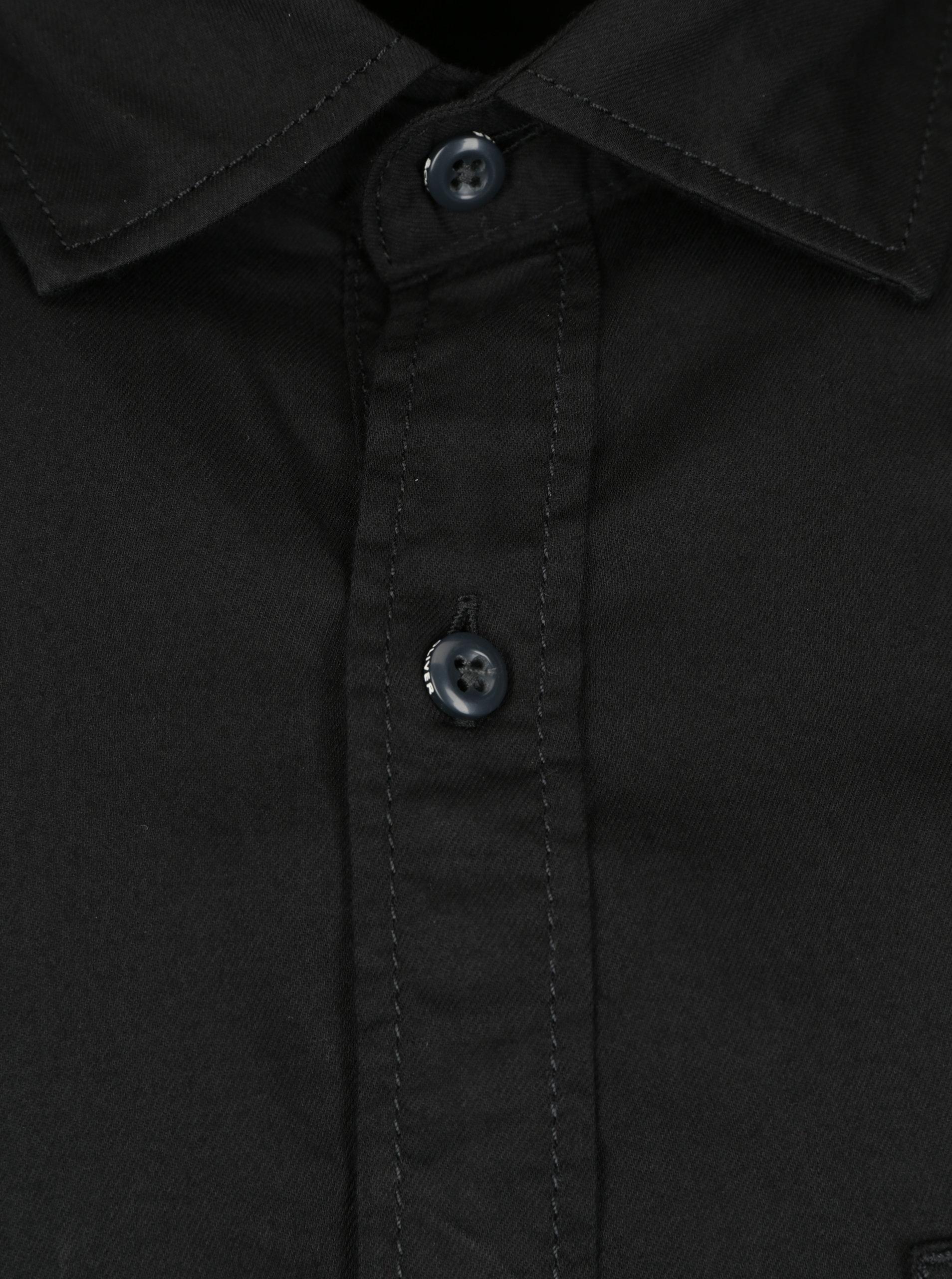 Černá pánská slim fit košile s.Oliver  d70ca4dc7b