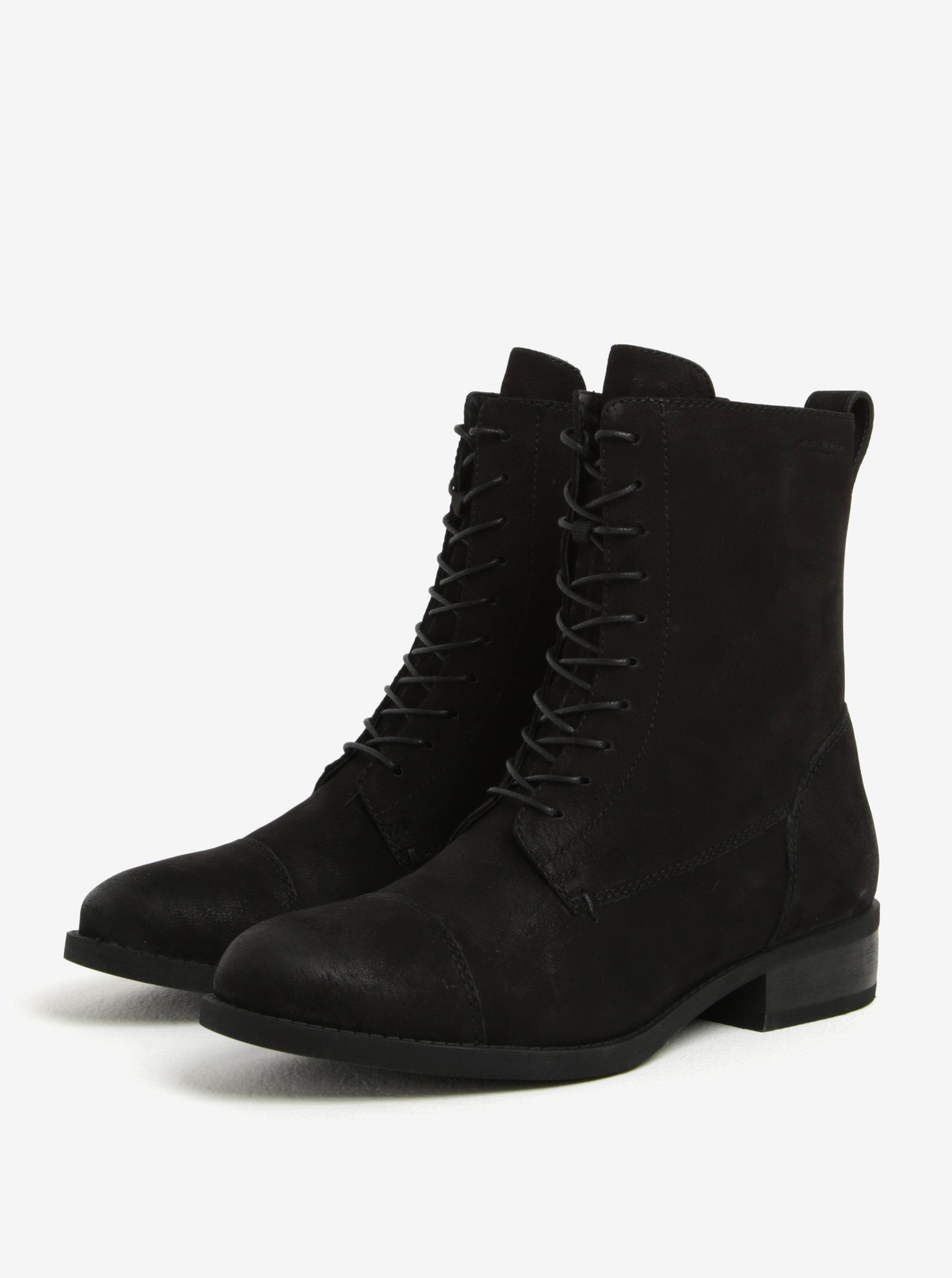 3472eeda61bc Čierne dámske kožené členkové topánky Vagabond Cary ...