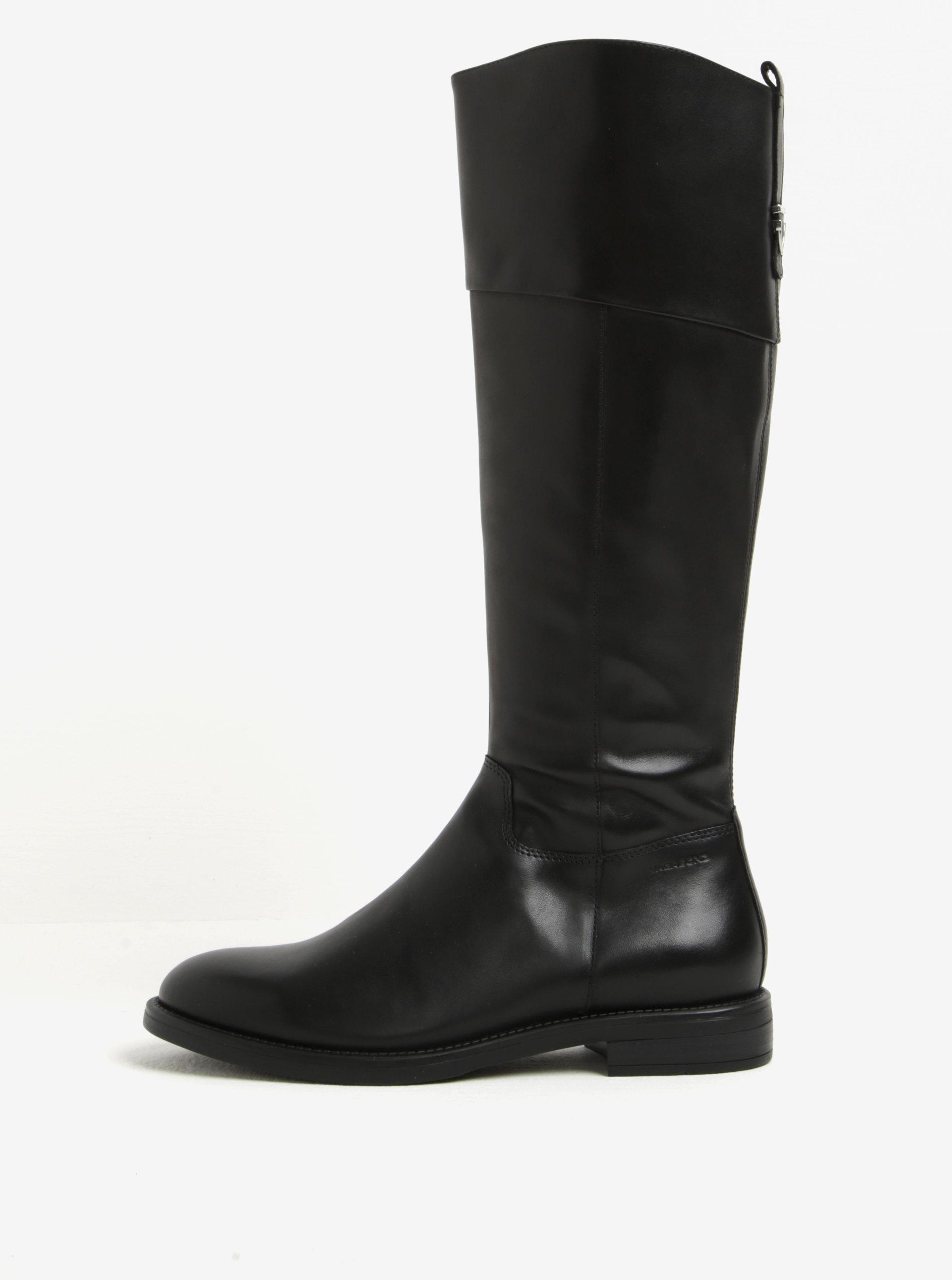 Čierne dámske vysoké kožené čižmy Vagabond Amina ... a306915457c