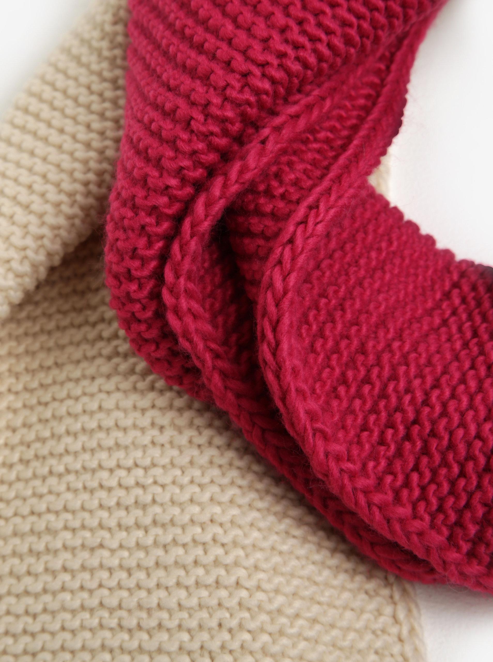 47ff6594e44 Růžovo-fialová dámská pletená šála Tom Joule Annis ...