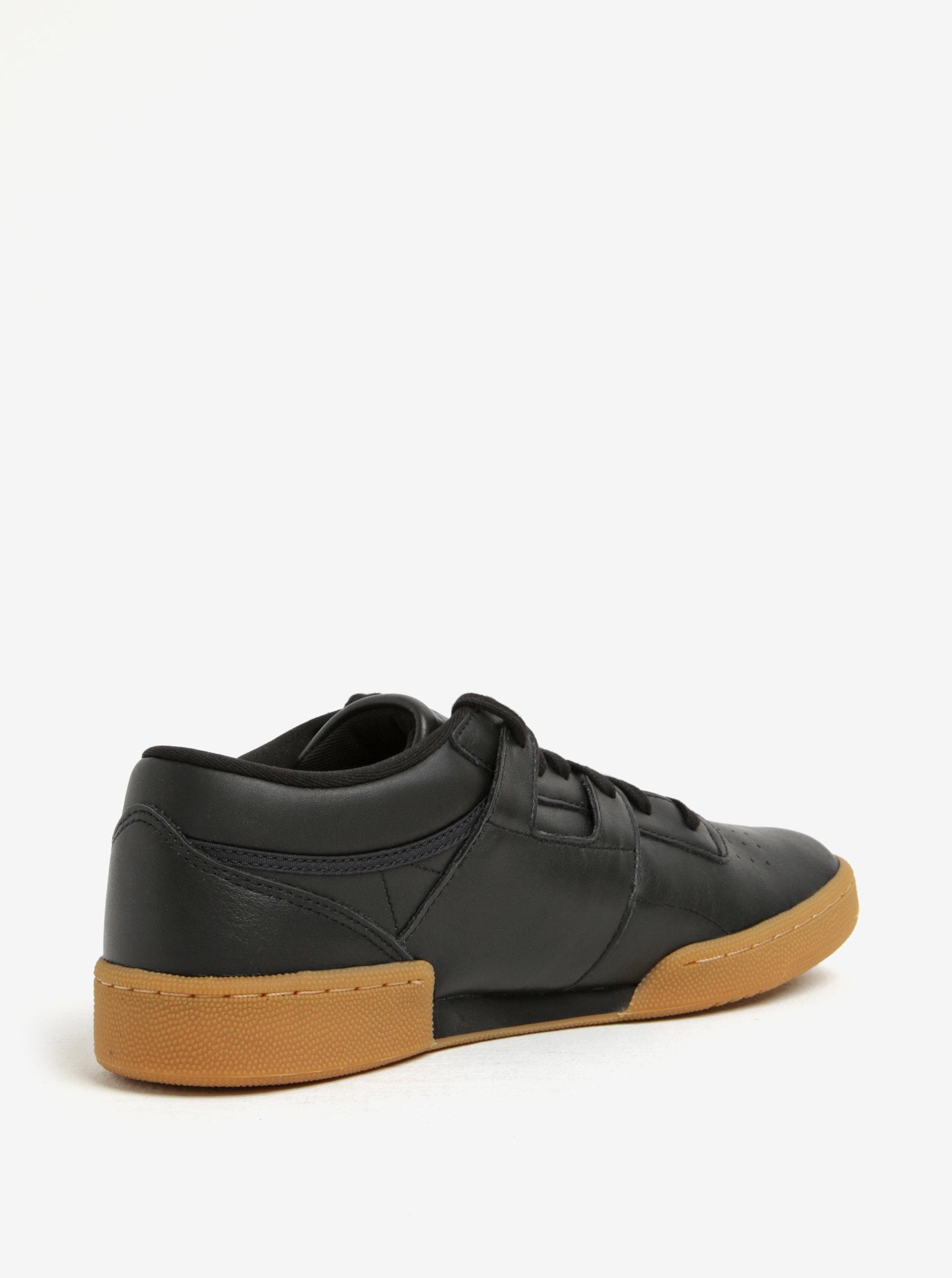 Čierne pánske tenisky s hnedou podrážkou Reebok club workout ... 8b3a52b462e