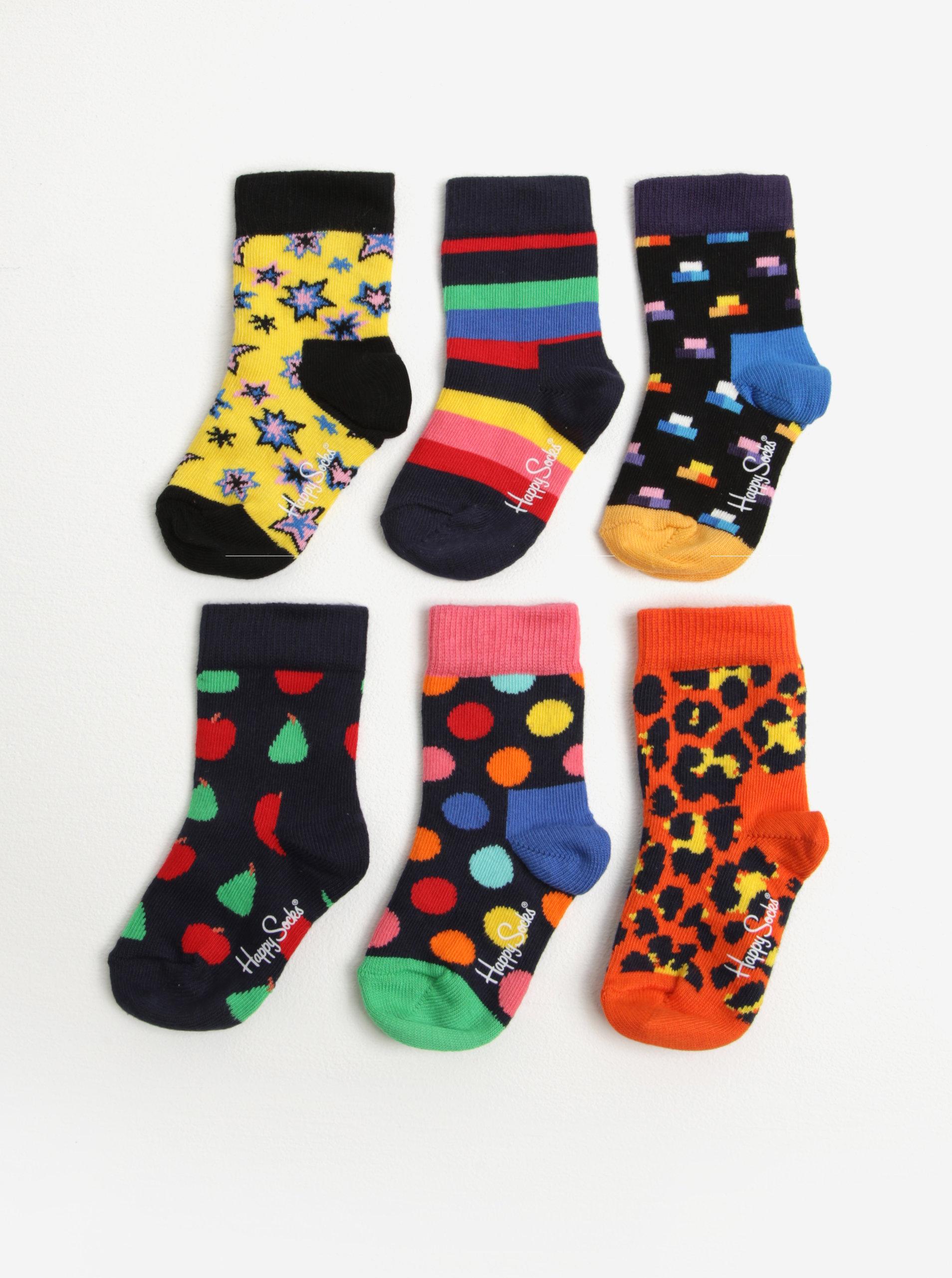 ec709093c40 Sada šesti párů dětských ponožek v modré