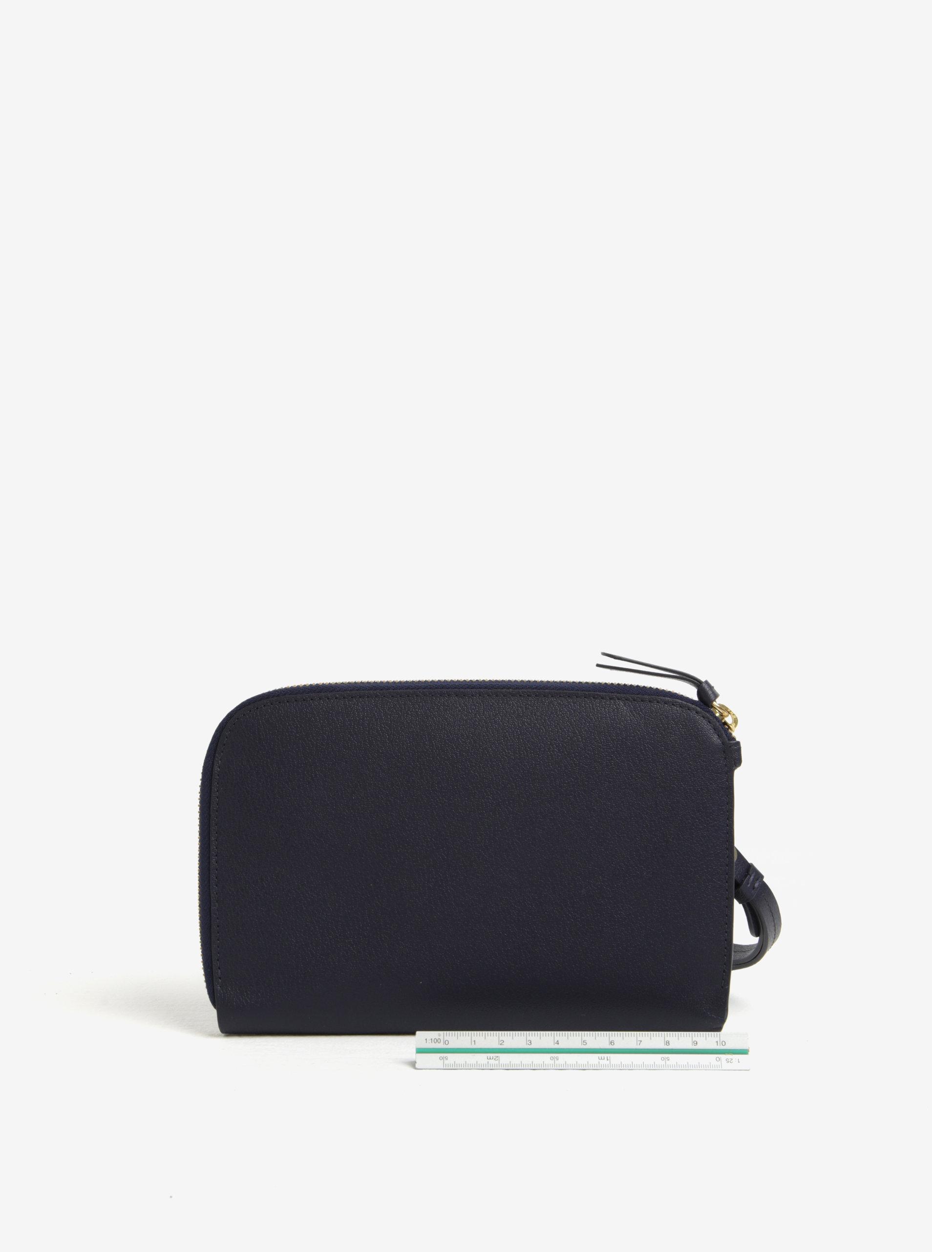 110f850746 Tmavomodrá dámska kožená listová kabelka Bellroy Clutch ...