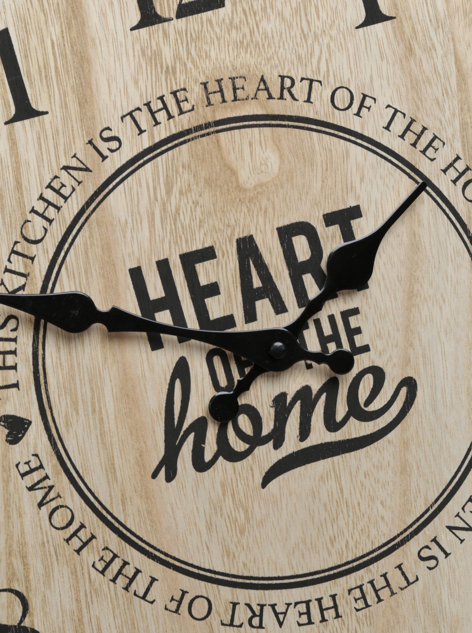 Hnědé dřevěné nástěnné hodiny SIFCON ... e6ca3df2949