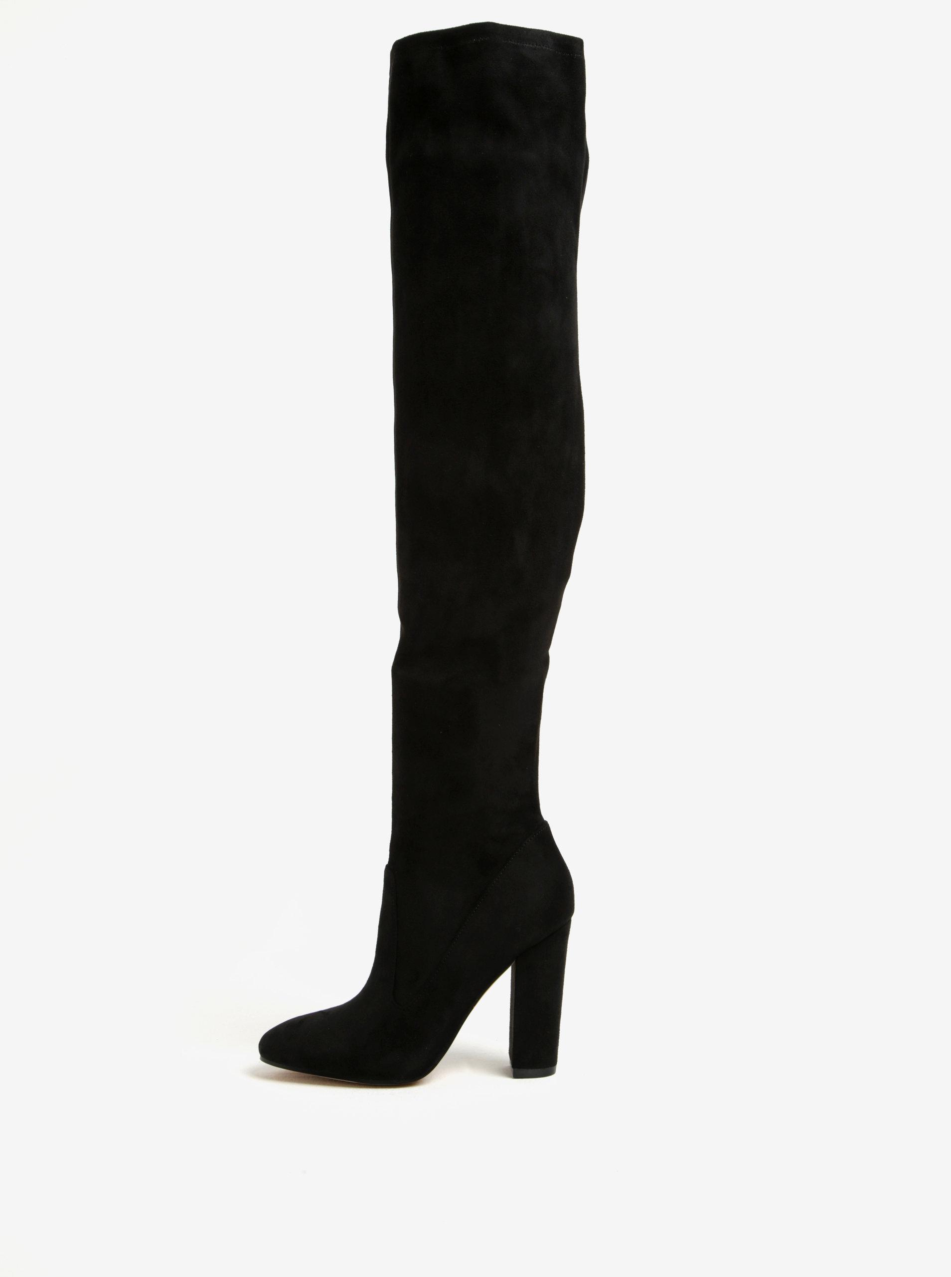 7fa946adb02e1 Čierne vysoké čižmy na podpätku ALDO Sumers | ZOOT.sk