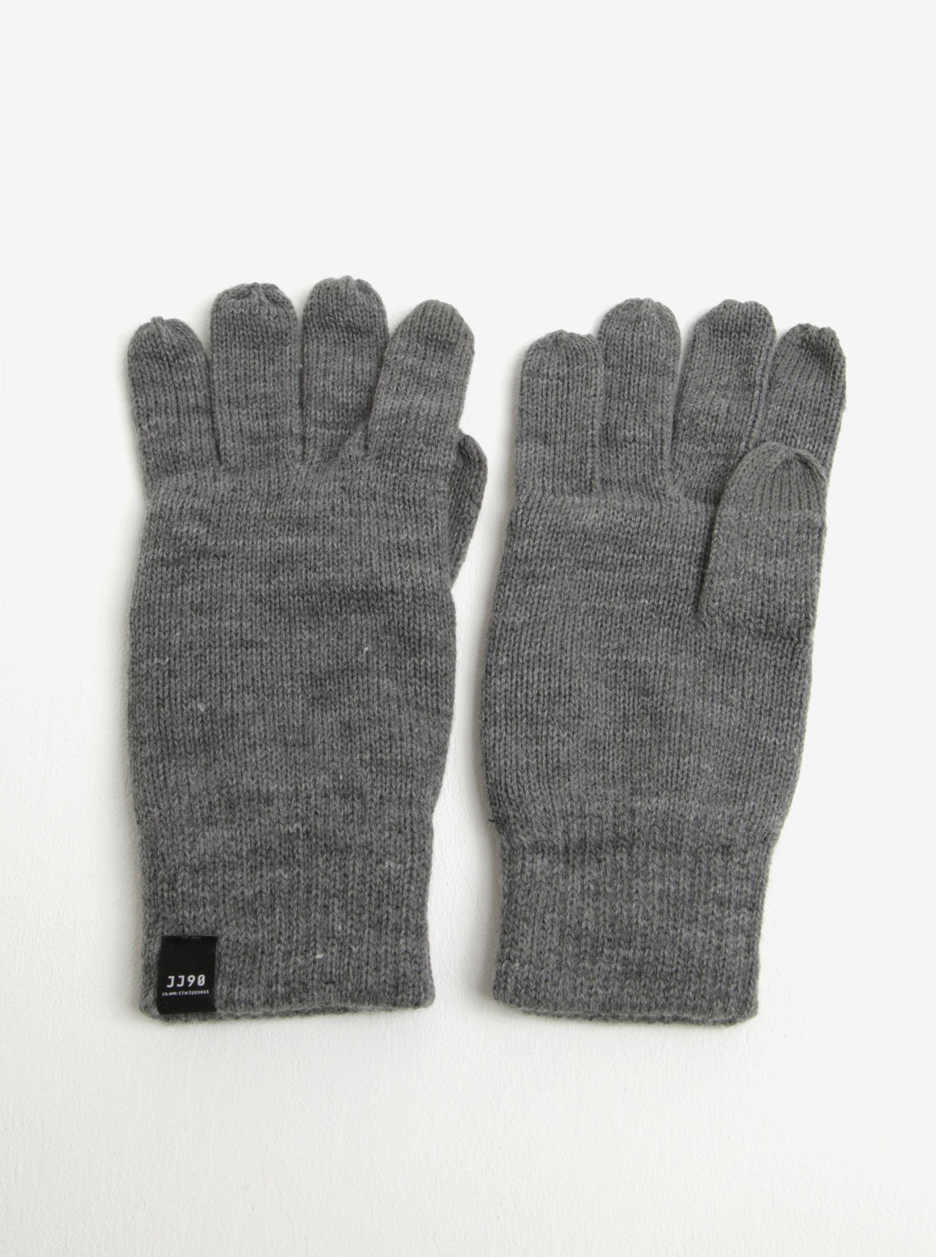 Šedé rukavice Jack & Jones DNA