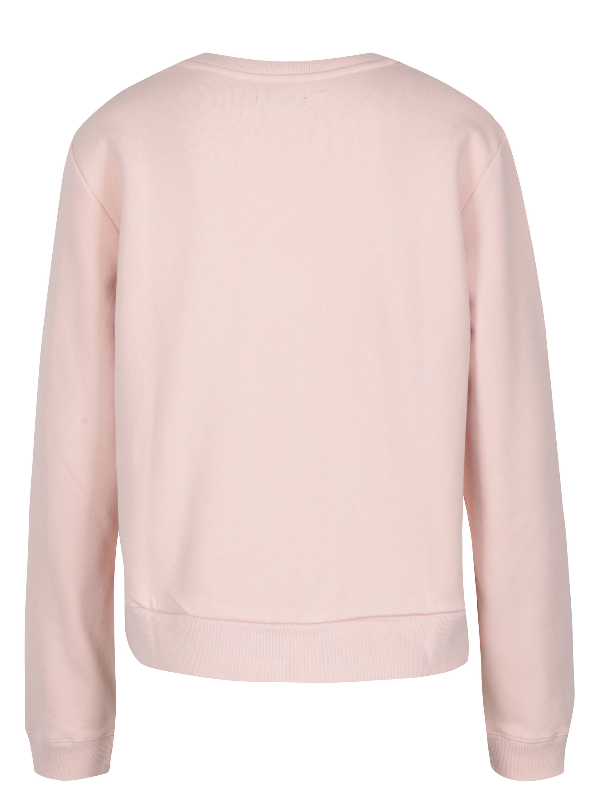 Světle růžová dámská mikina s výšivkou Calvin Klein Jeans Harper ... ed9a3b3da4