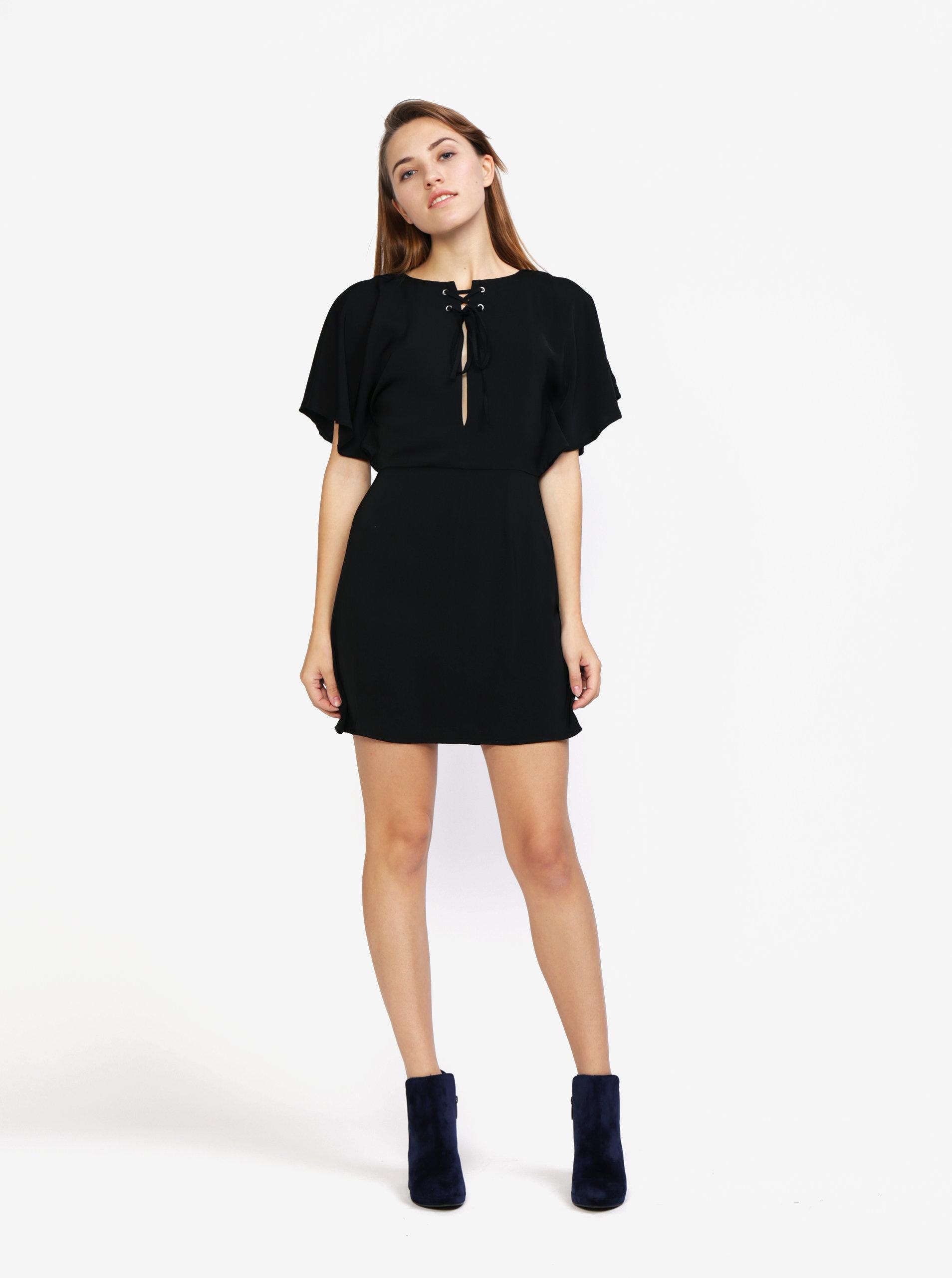3f82f9e05ff5 Čierne šaty s krátkymi netopierími rukávmi MISSGUIDED ...