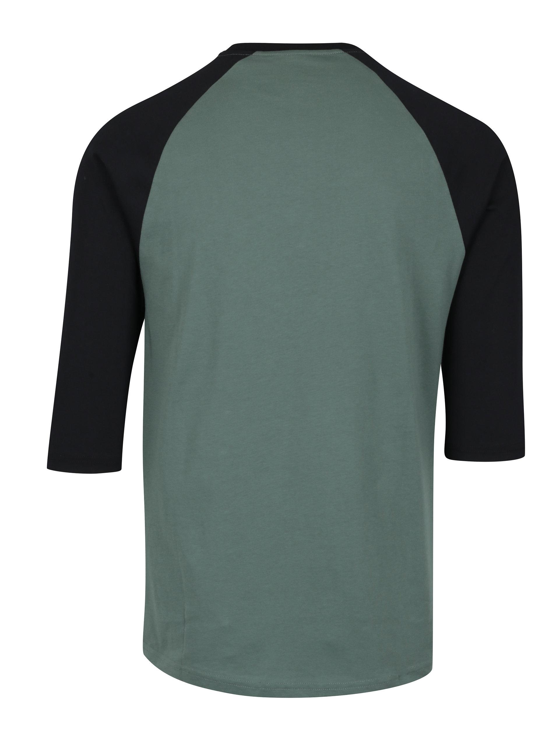 9df06c863023 Čierno-zelené pánske custom fit tričko s potlačou VANS Classic ...