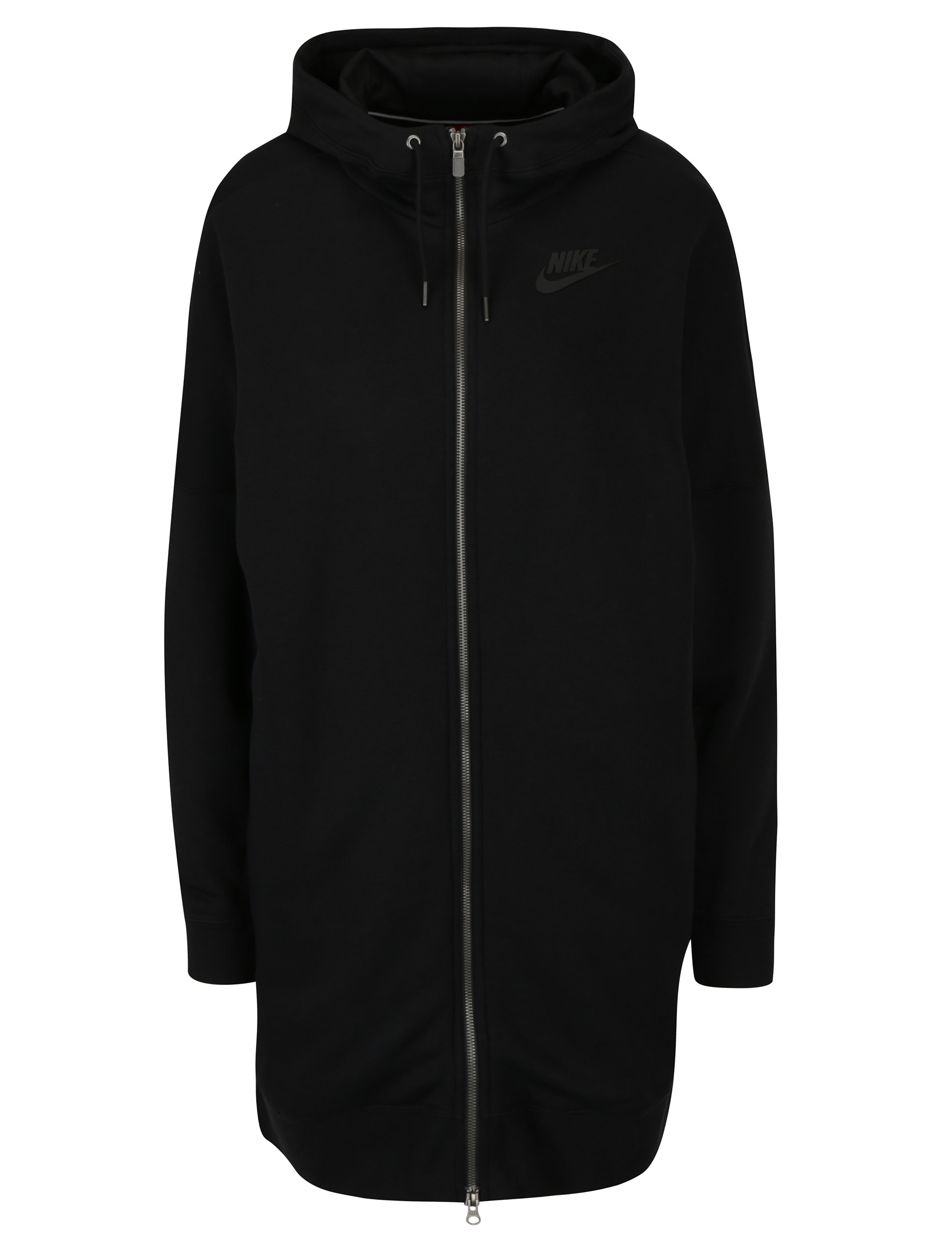 Čierna dámska dlhá mikina s kapucňou Nike Hoodie ... 42be0fe10bc