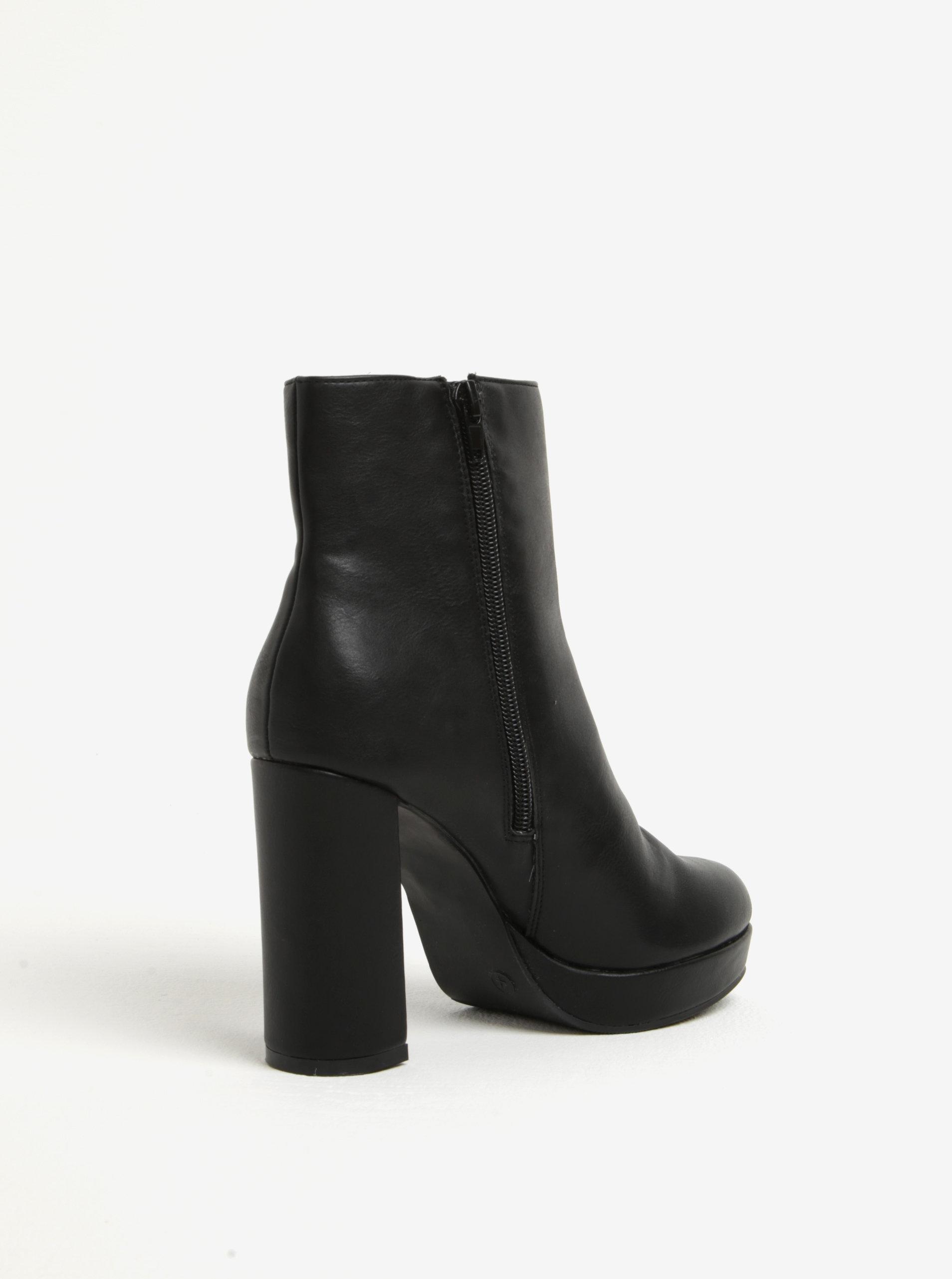 b74dd85c81 Čierne členkové topánky na širokom podpätku Dorothy Perkins ...
