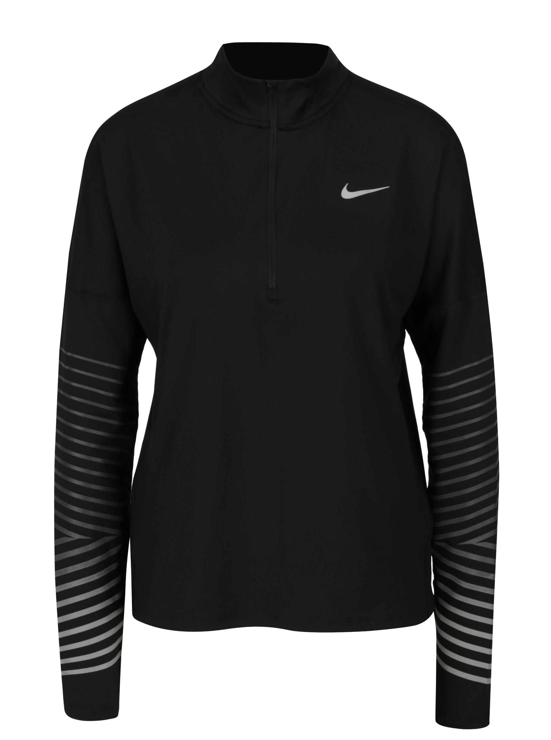 4c6361f3c9cf Čierne dámske funkčné tričko s dlhým rukávom Nike Element Flash ...