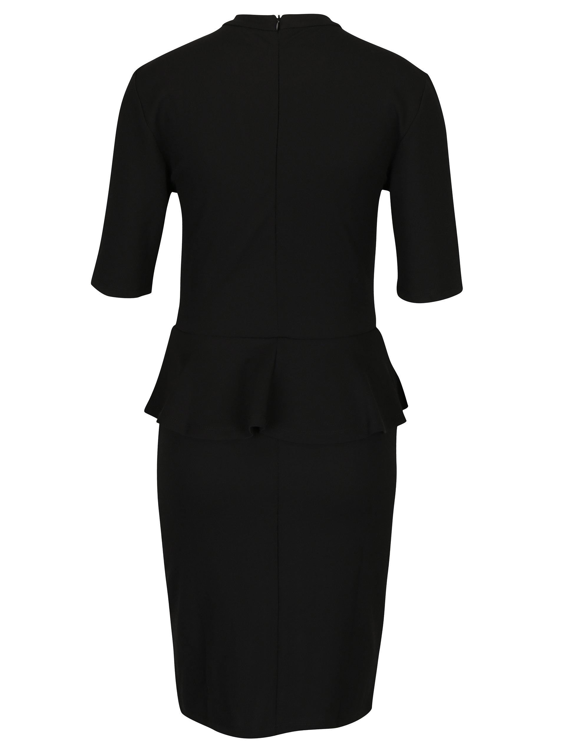 eae2349fb491 Čierne šaty s volánikom ONLY Lona ...