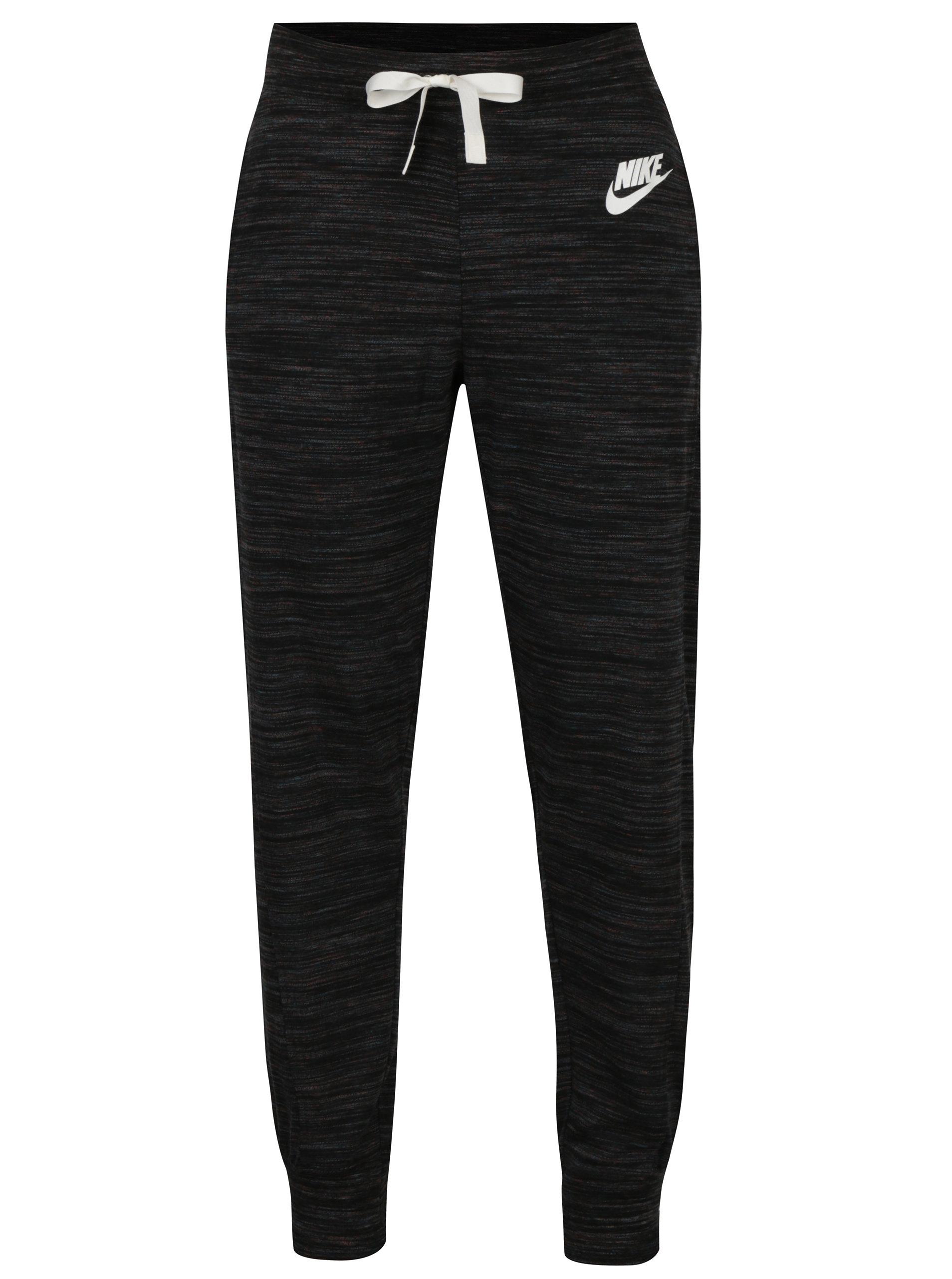 5625045f1 Čierne dámske melírované tepláky Nike Sportswear Gym | ZOOT.sk